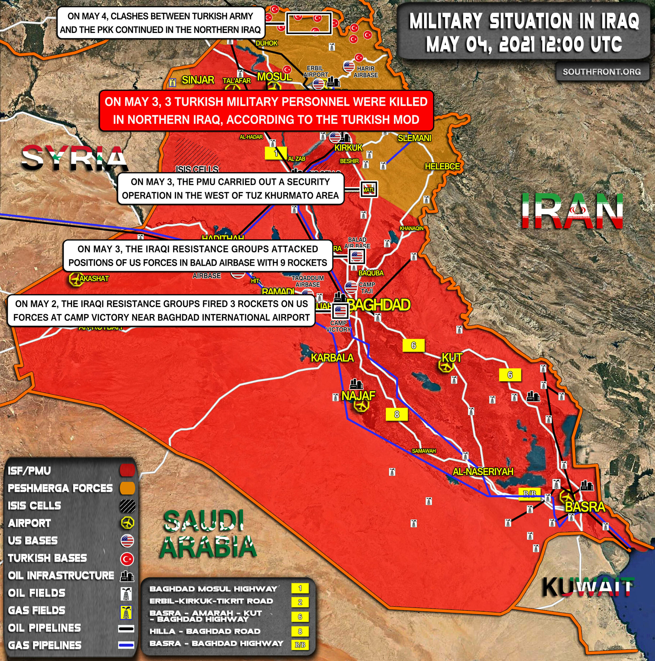 Military Situation In Iraq On May 4, 2021 (Map Update)