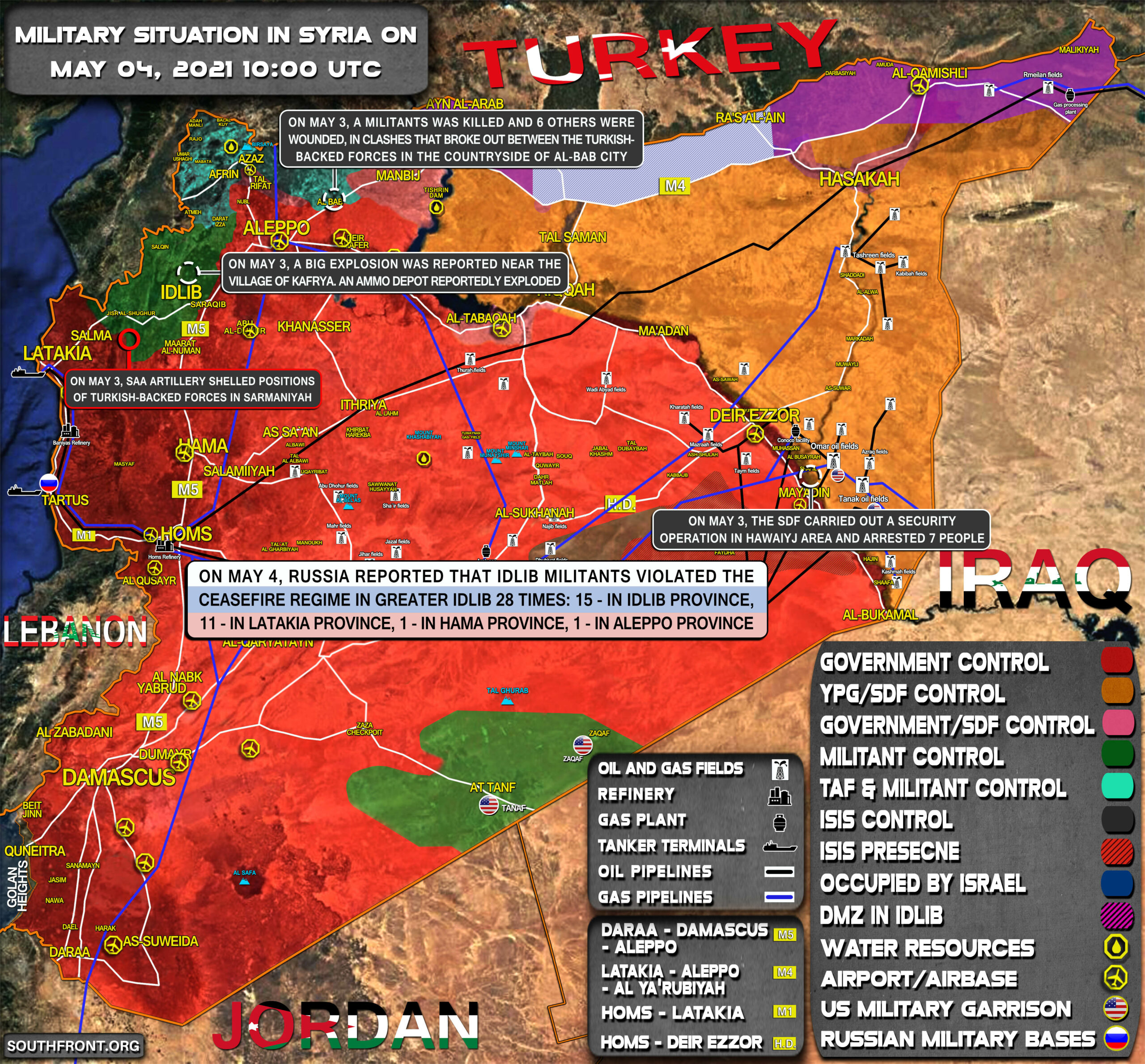 Military Situation In Syria On May 4, 2021 (Map Update)