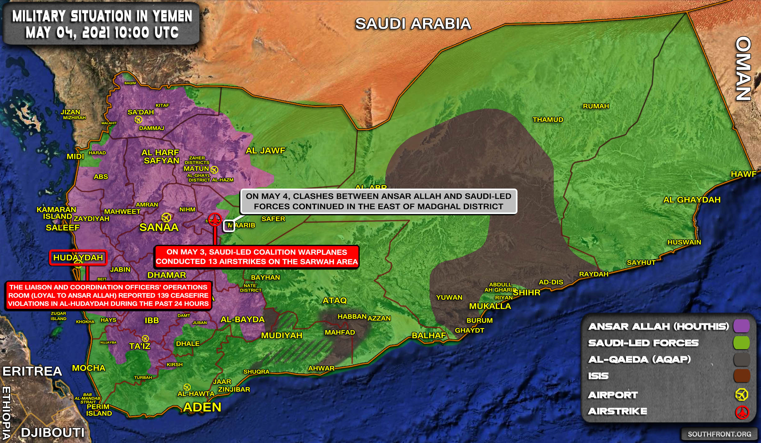 Military Situation In Yemen On May 4, 2021 (Map Update)