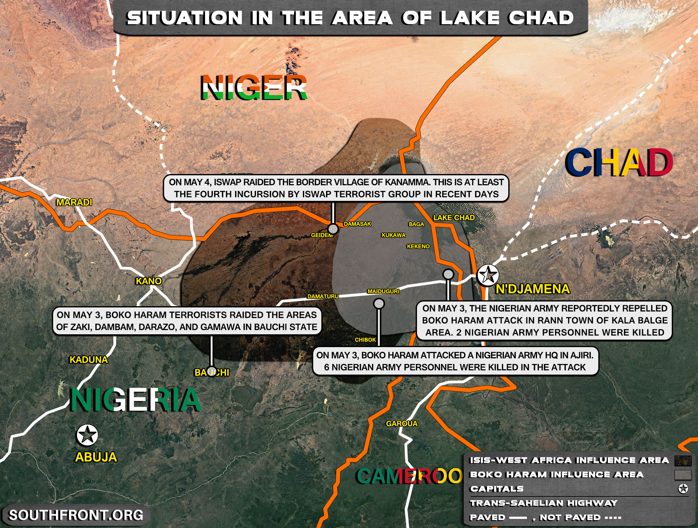 Military Situation In The Lake Chad Area On May 5, 2021 (Map Update)