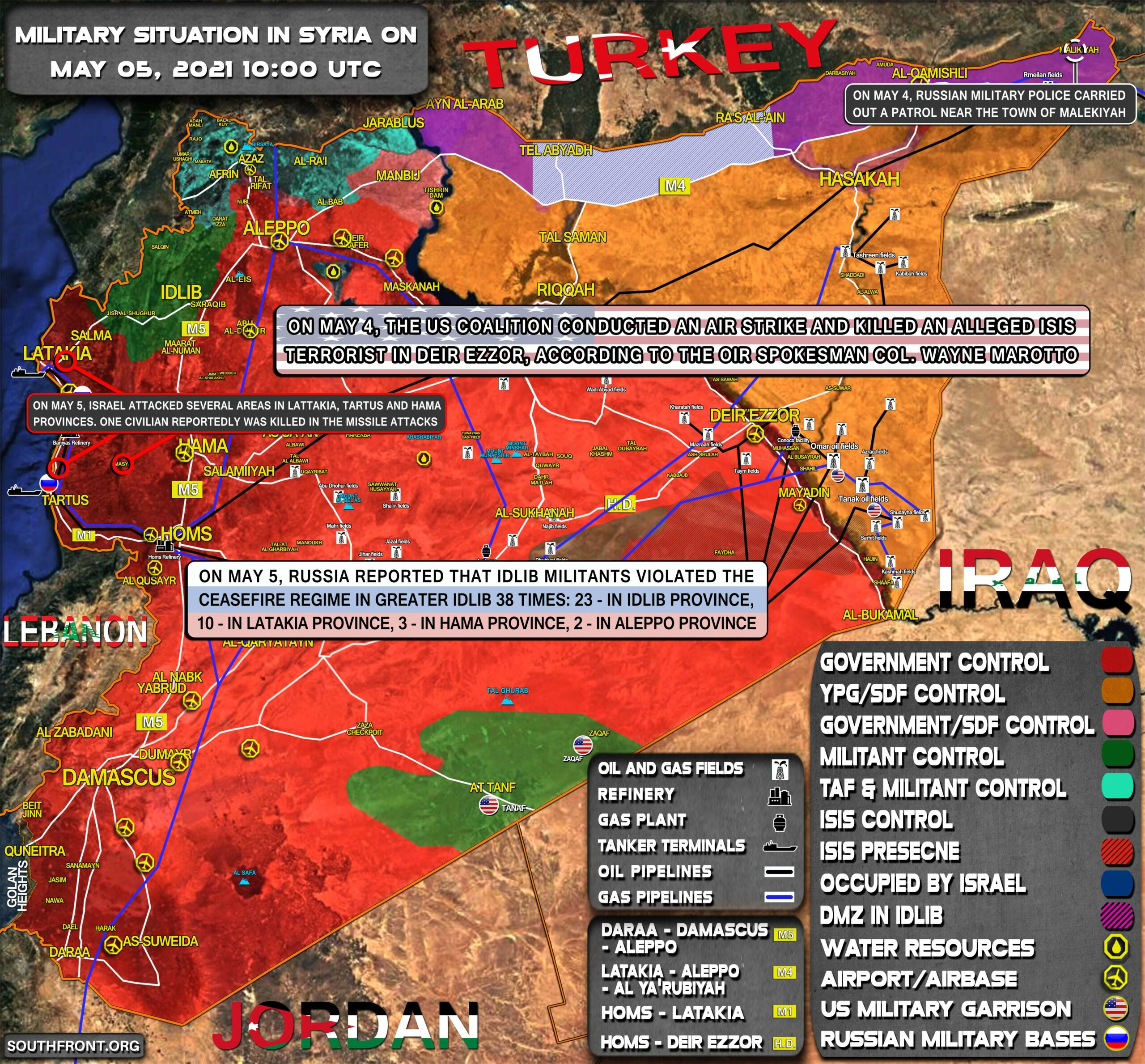 Military Situation In Syria On May 5, 2021 (Map Update)
