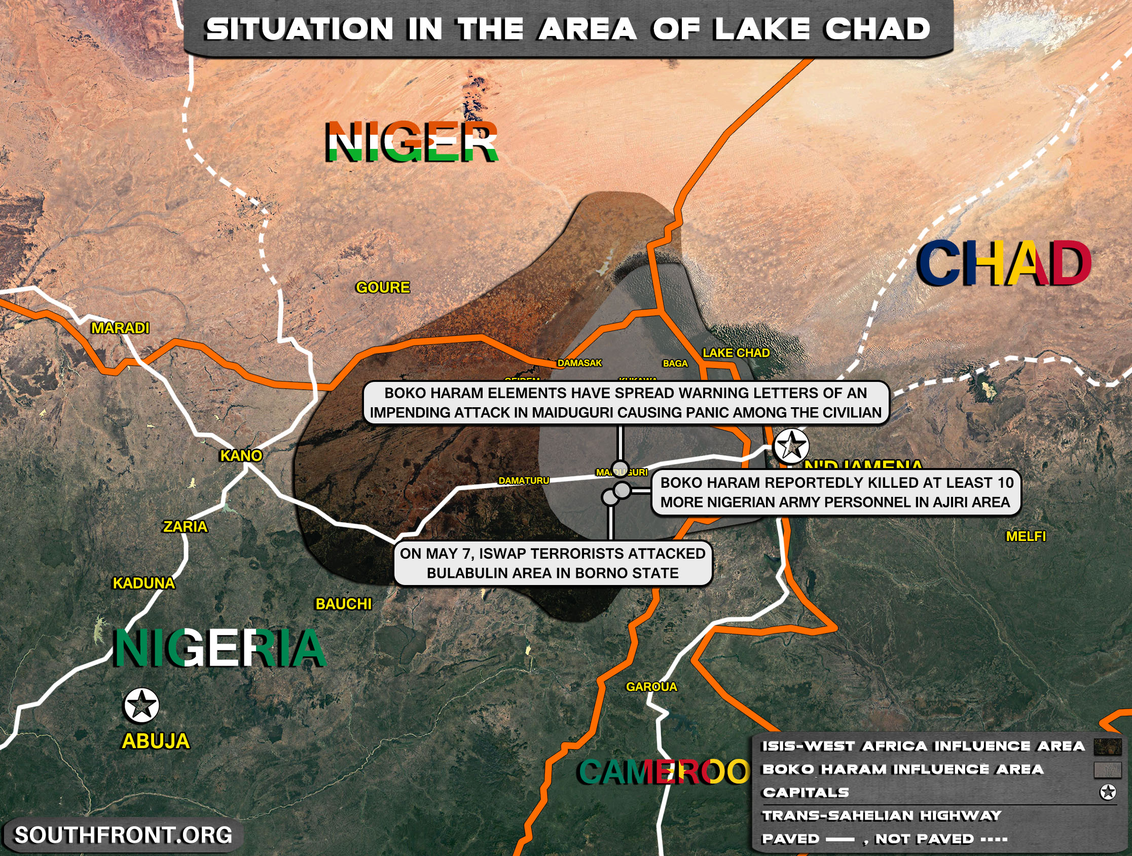 Military Situation In The Lake Chad Area On May 8, 2021 (Map Update)