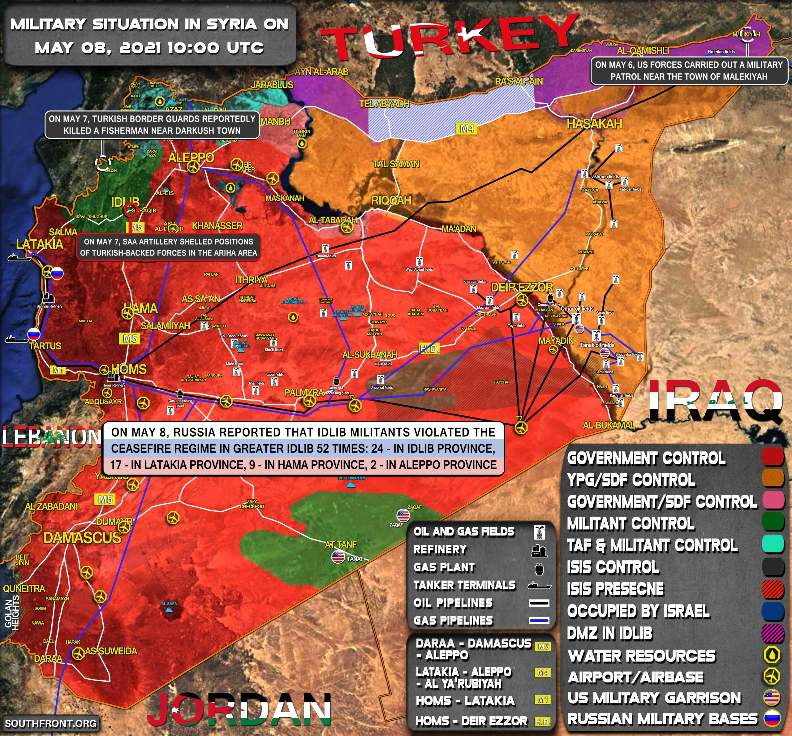 Military Situation In Syria On May 8, 2021 (Map Update)