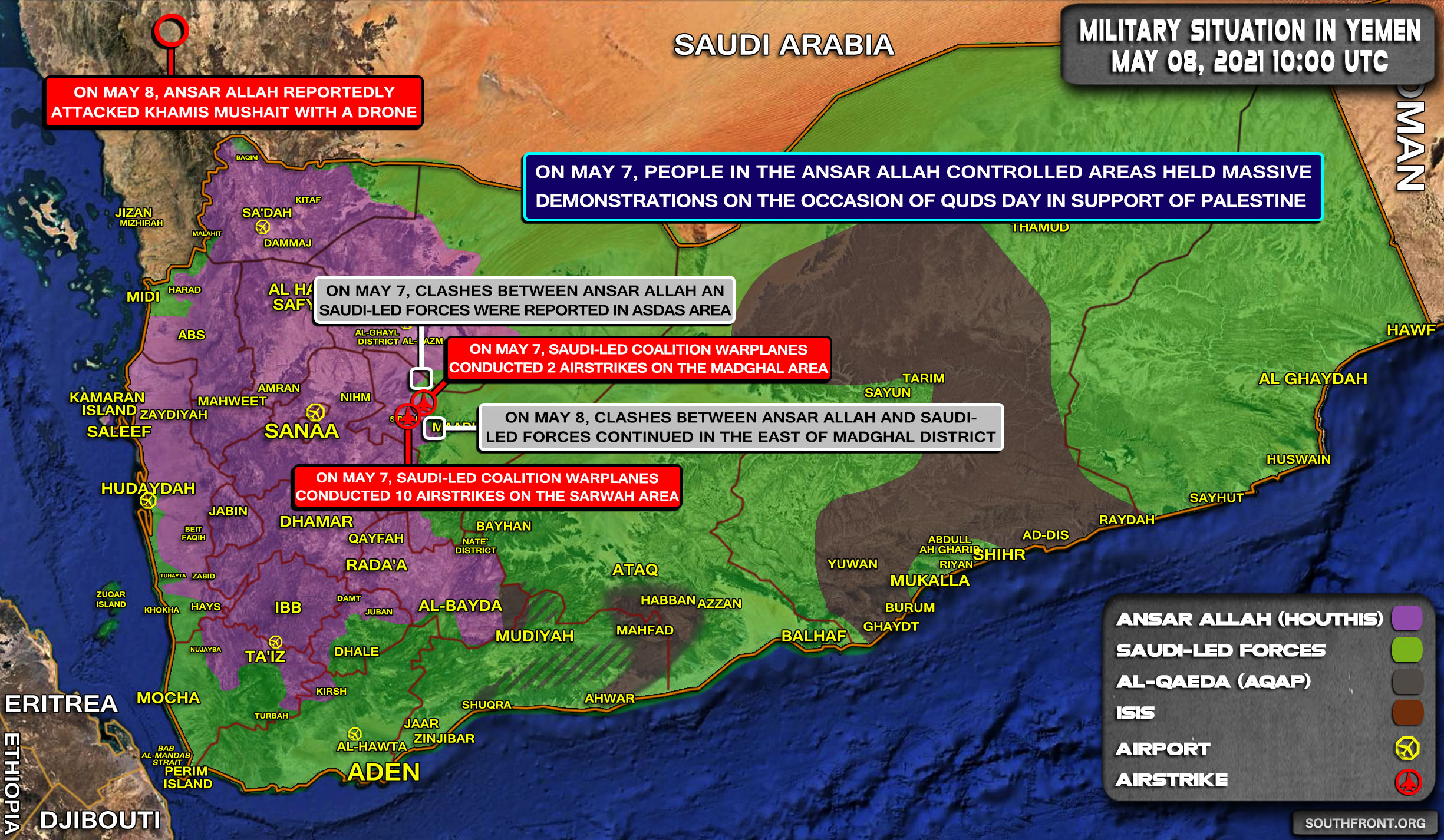 Military Situation In Yemen On May 8, 2021 (Map Update)