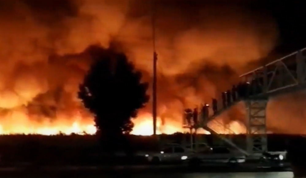 Massive Fire Broke Out Near Key Iranian Nuclear Reactor, Major Oil Export Port (Video)