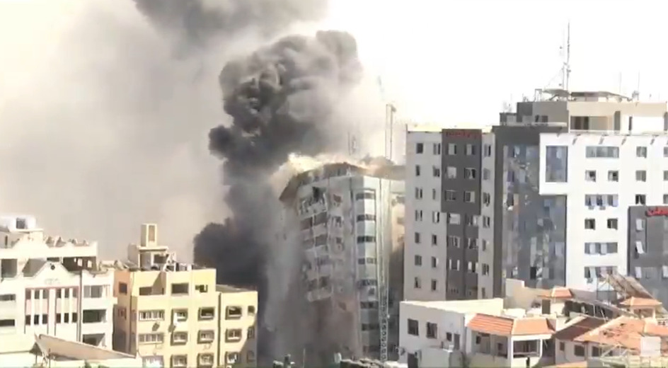 Israeli Army Knocks Down Another Tower In Gaza After Deadly Rocket Attack On Tel Aviv (Videos, Photos)