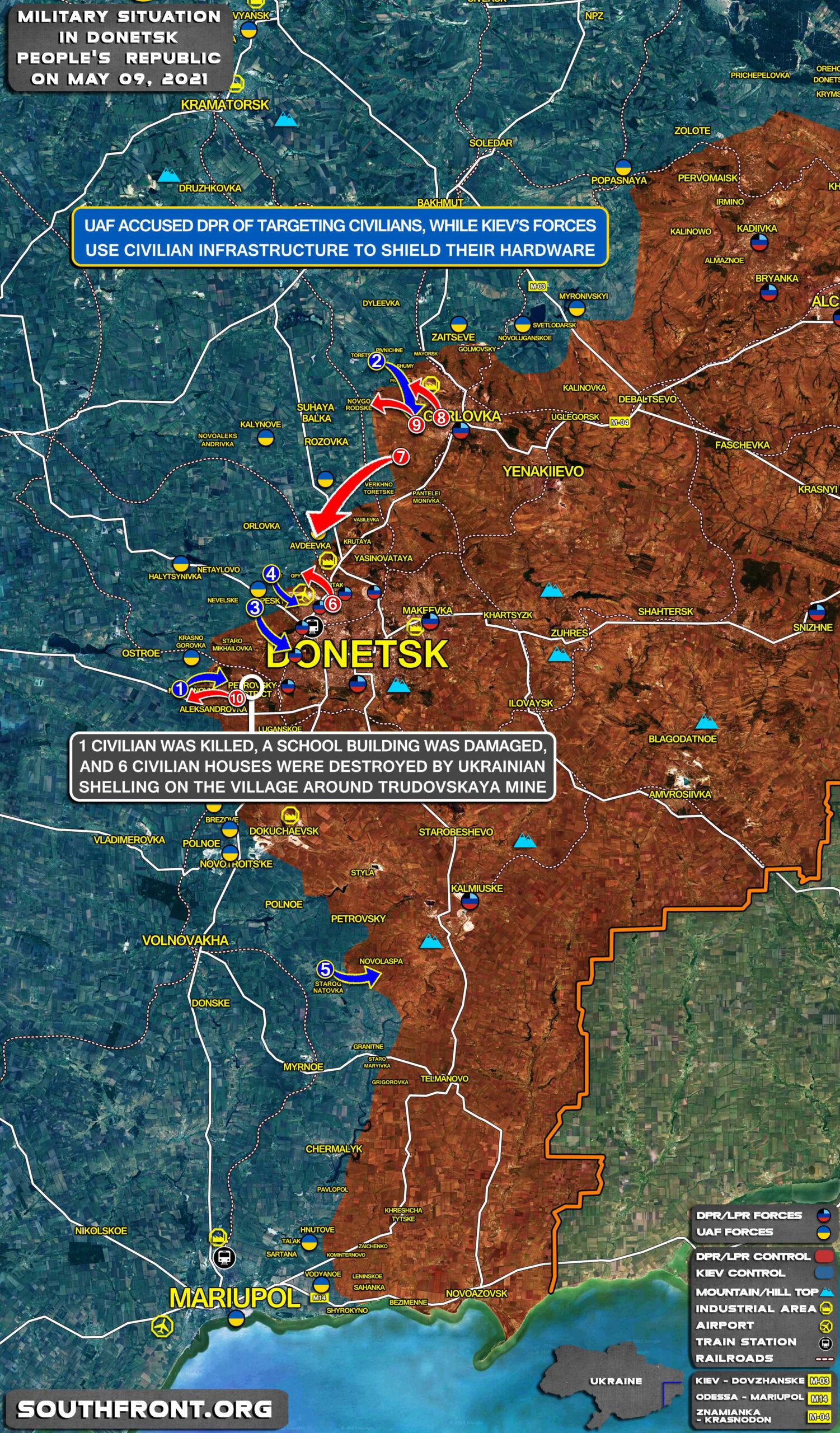 Kiev's Victory Day Celebration: Shelling Civilians (Map Update)