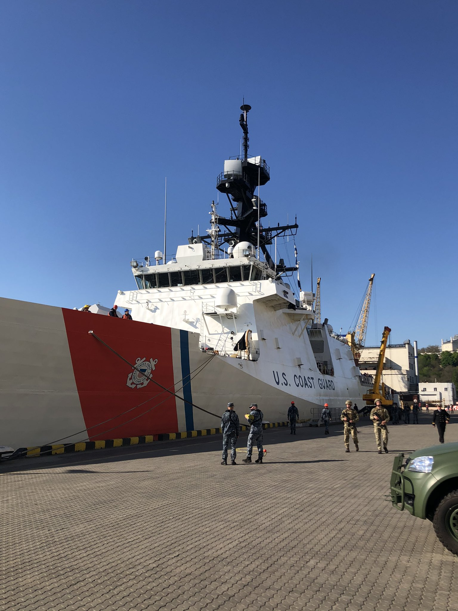 U.S. Coast Guard Warship Ports In Odessa After Drills With Ukrainian Navy