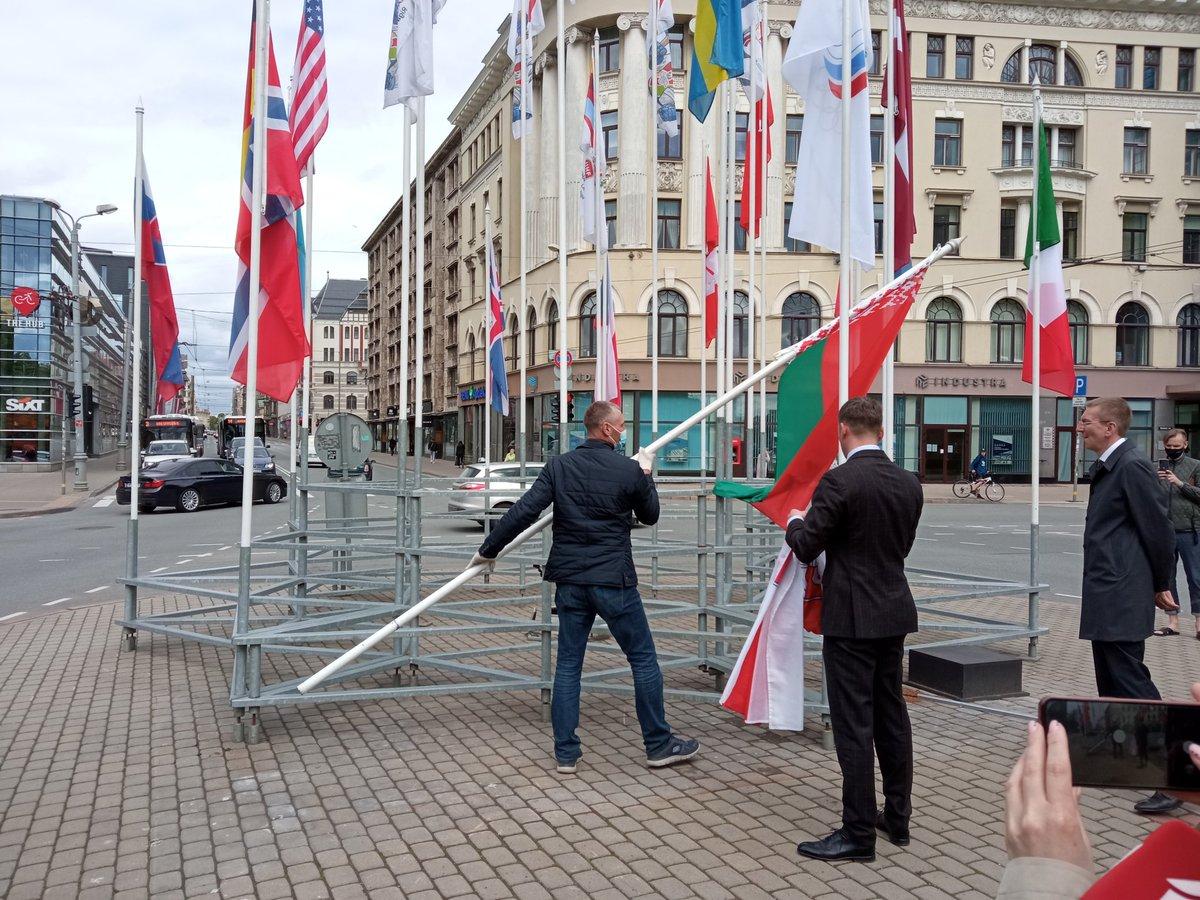 Belarus Expels Latvian Ambassador, Diplomatic Staff Over Flag Fiasco