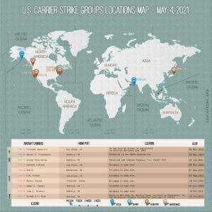 Locations Of US Carrier Strike Groups – May 4, 2021