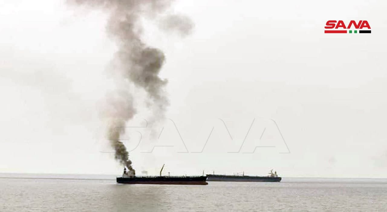 Explosions Rock Tanker Anchored Off Syria's Coast (Video, Photos)