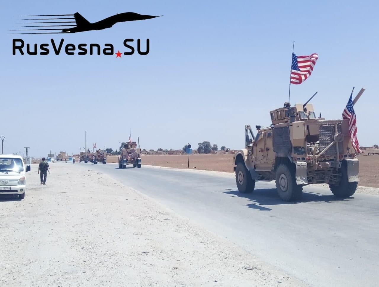 Russian Military Police Blocked US Convoy In Northeastern Syria (Photos)