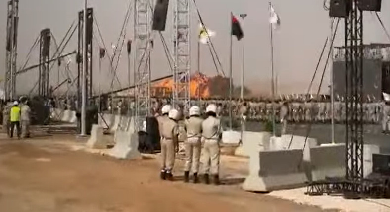 Libyan Fighter Jet Crashed Killing Its Pilot During Military Parade In Benghazi (Videos)