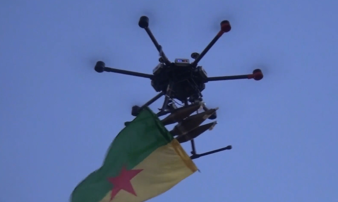 In Video: PKK Drone Targeted Turkish Post In Northern Iraq With RPG-7 Warheads