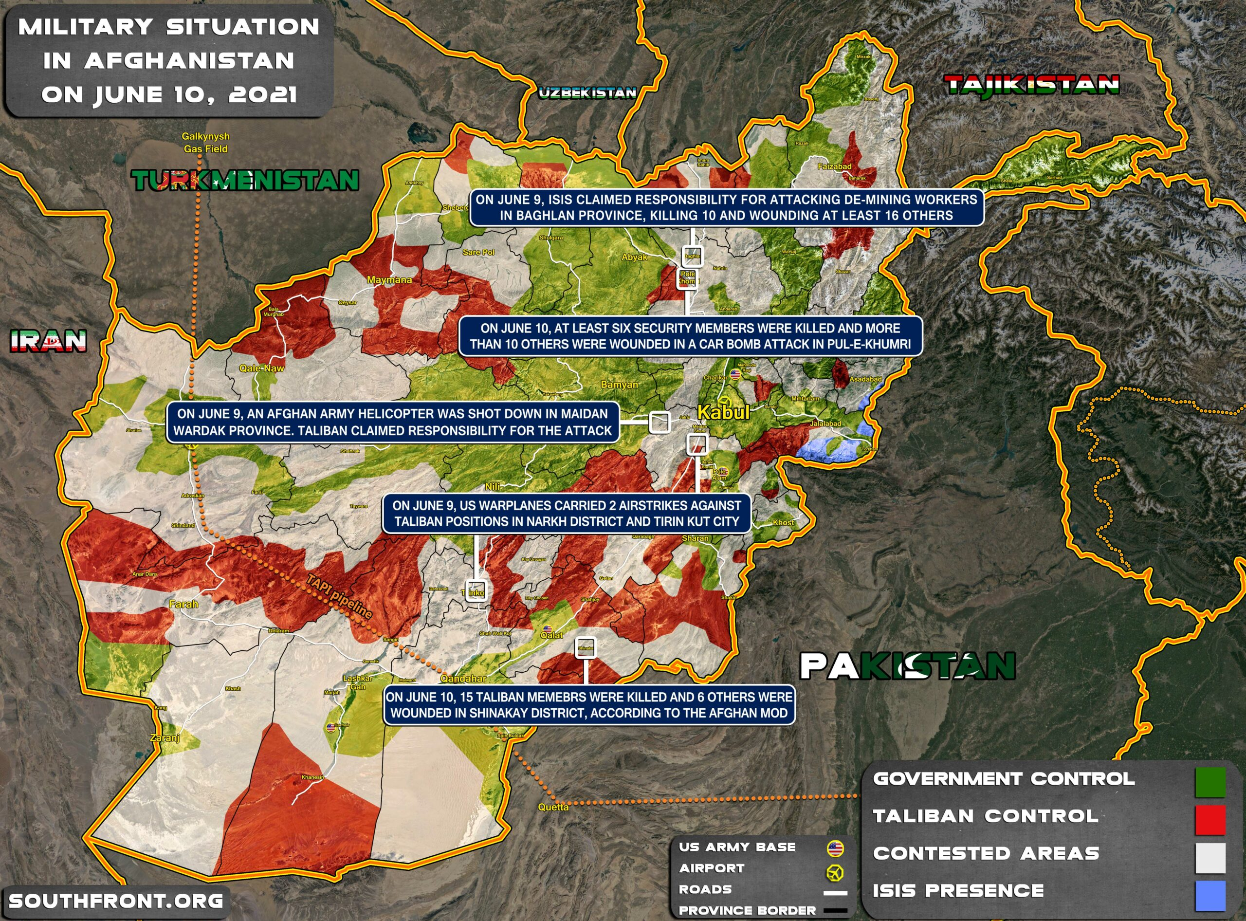 Military Situation In Afghanistan On June 10, 2021 (Map Update)