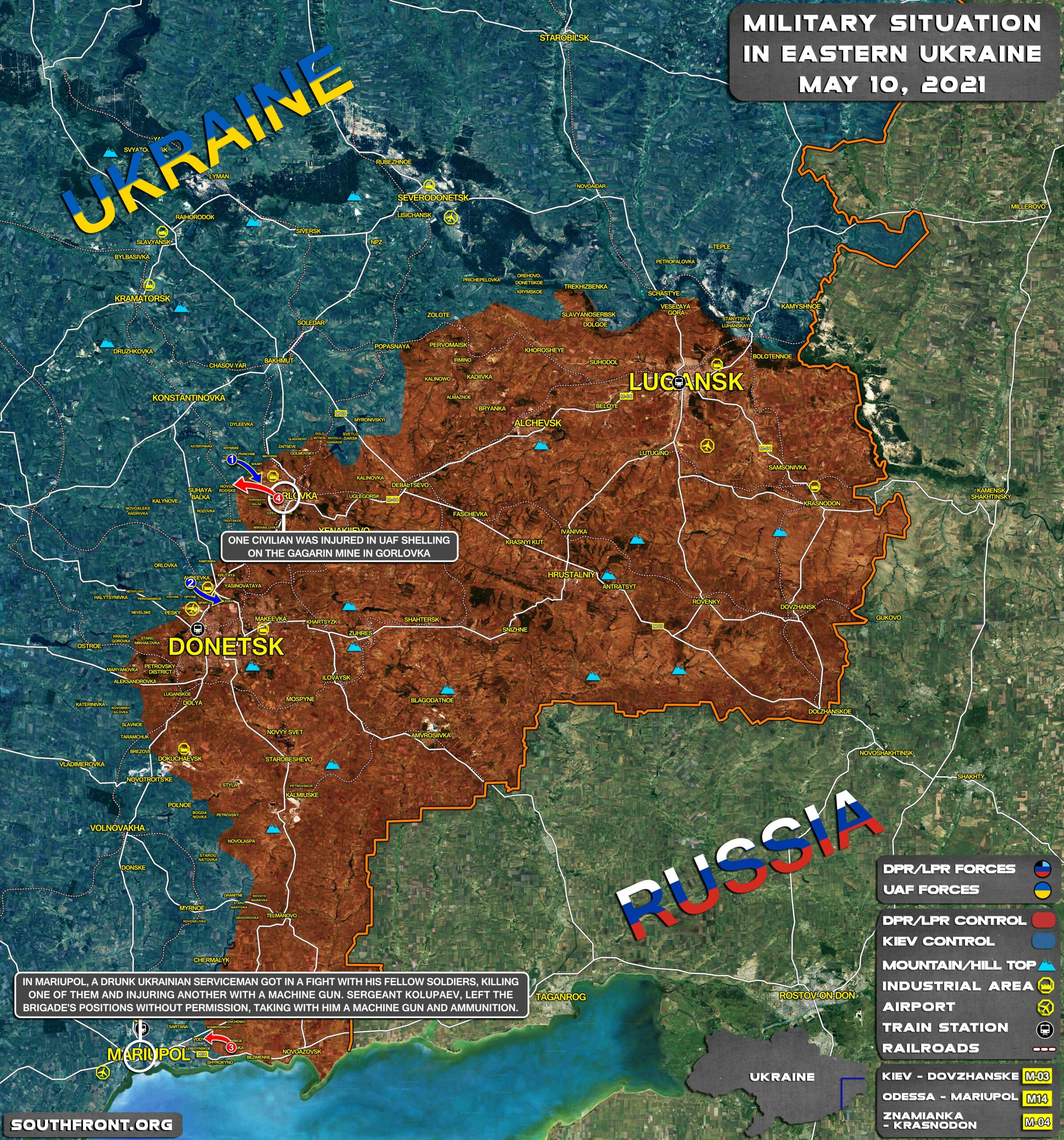 Military Situation In Donetsk People's Republic On June 10, 2021 (Map Update)