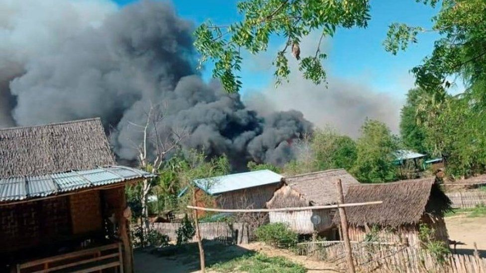 Myanmar Junta Reportedly Burns Down Entire Village Hunting For Dissidents