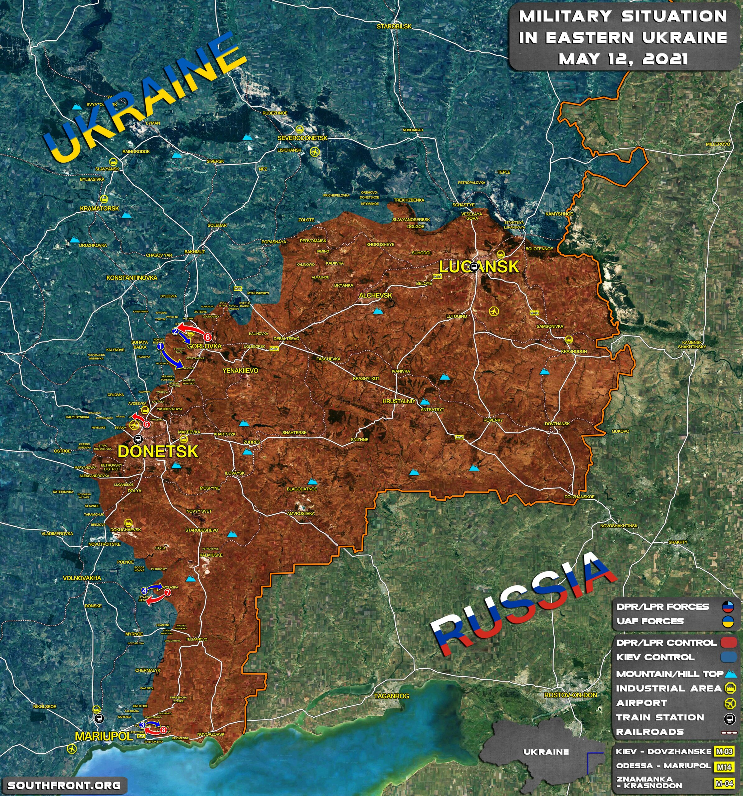 Military Situation In Donetsk People's Republic On June 12, 2021 (Map Update)