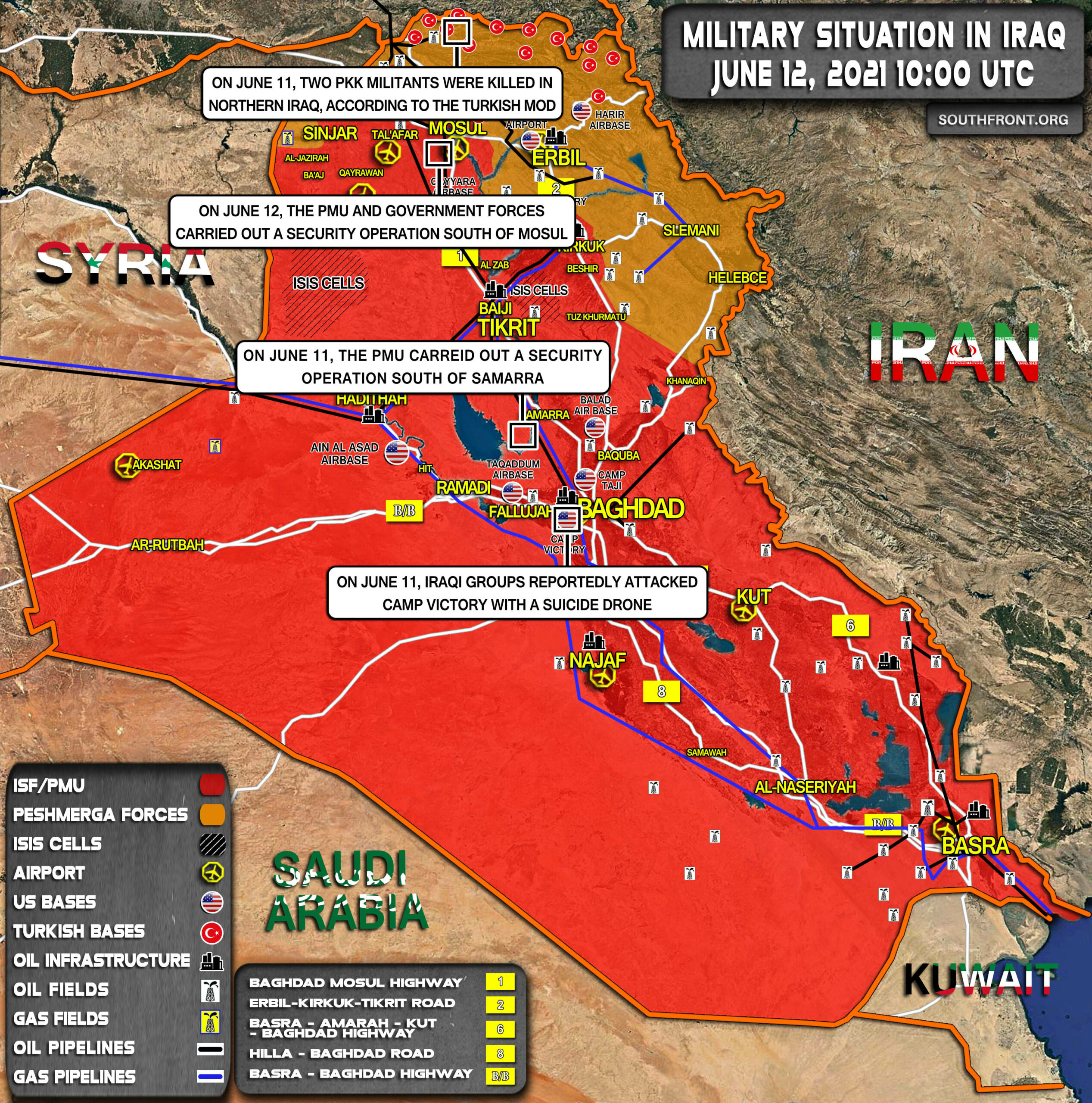 Military Situation In Iraq On June 11, 2021 (Map Update)