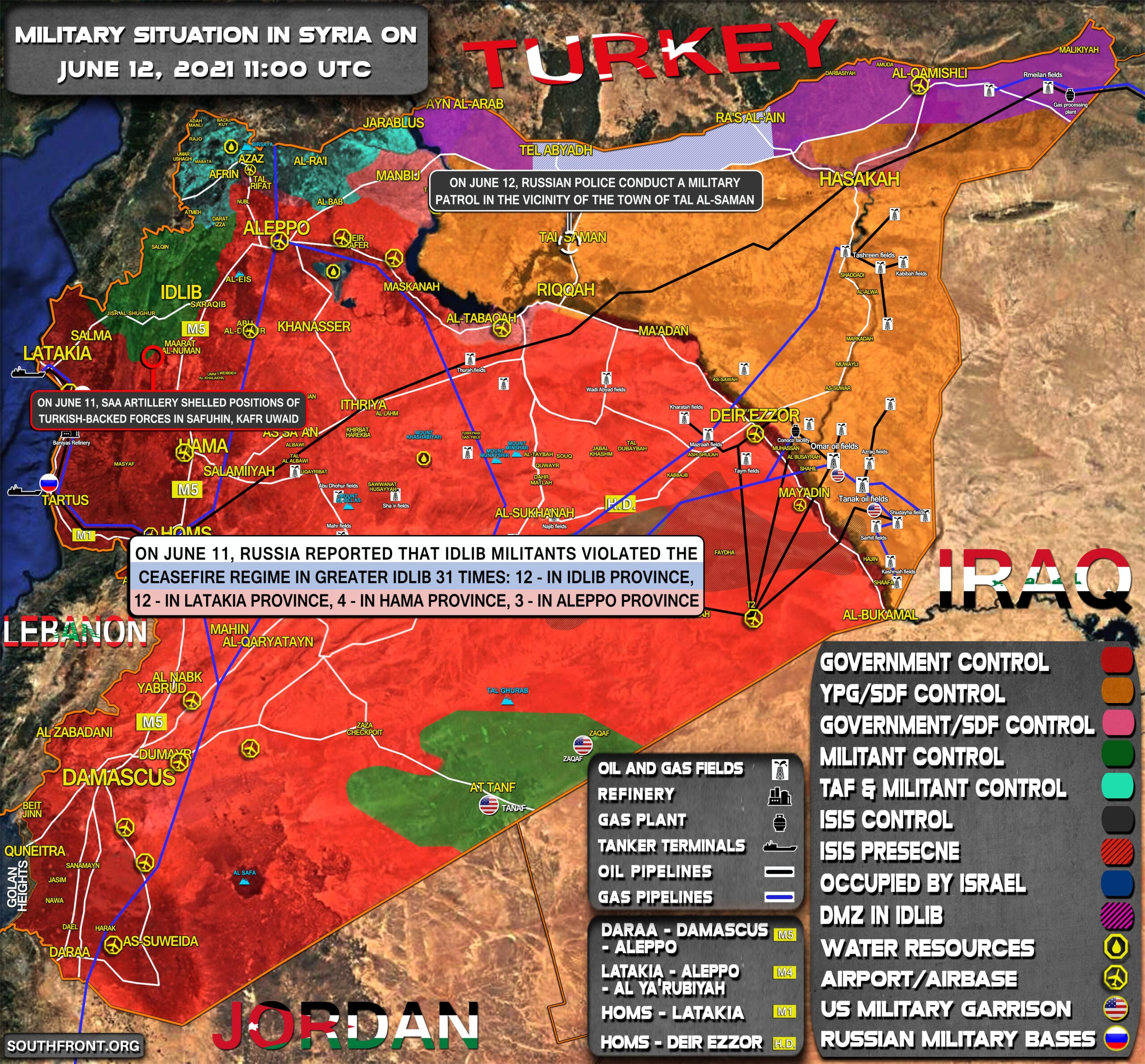 Military Situation In Syria On June 12, 2021 (Map Update)