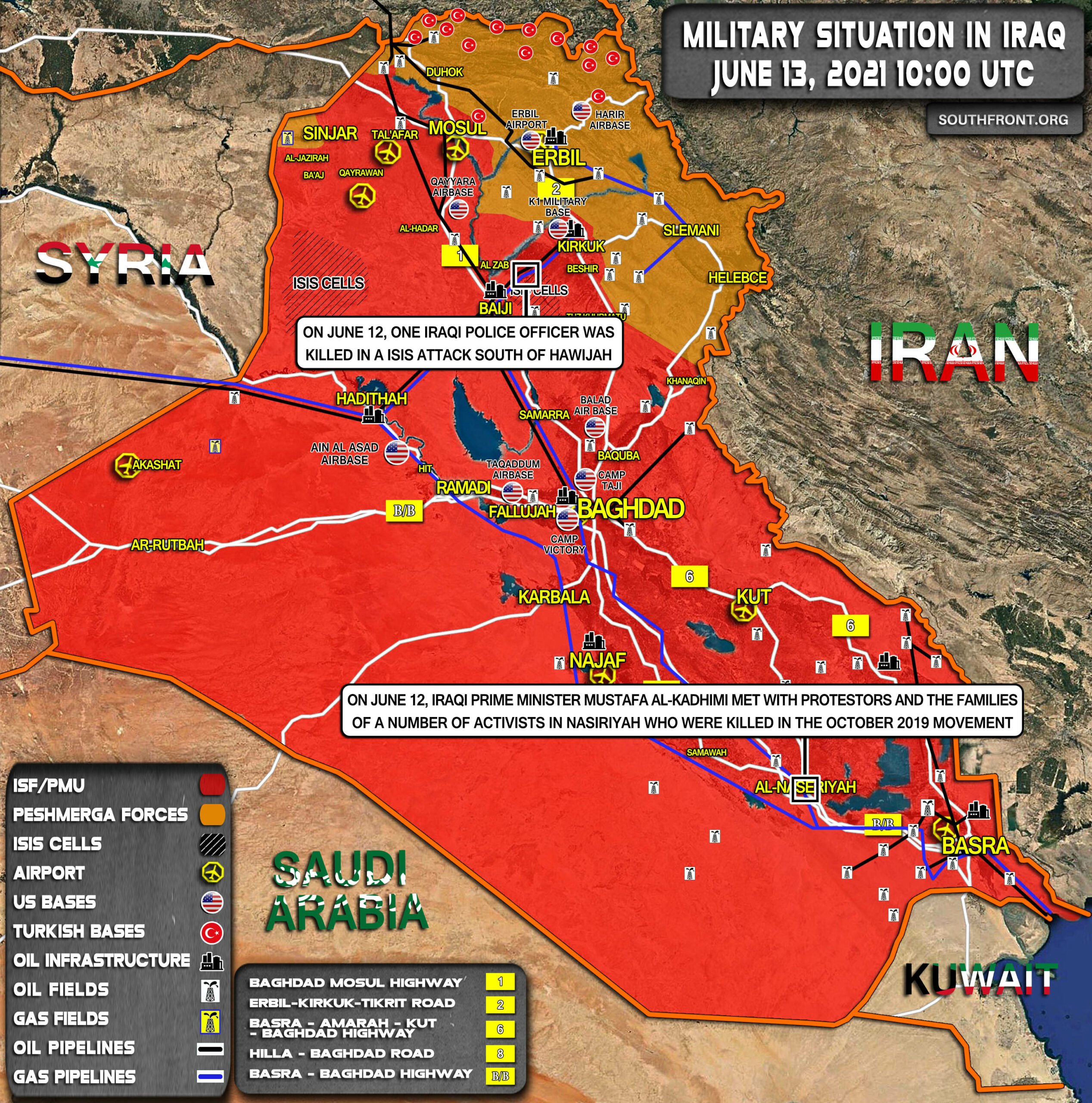 Military Situation In Iraq On June 13, 2021 (Map Update)