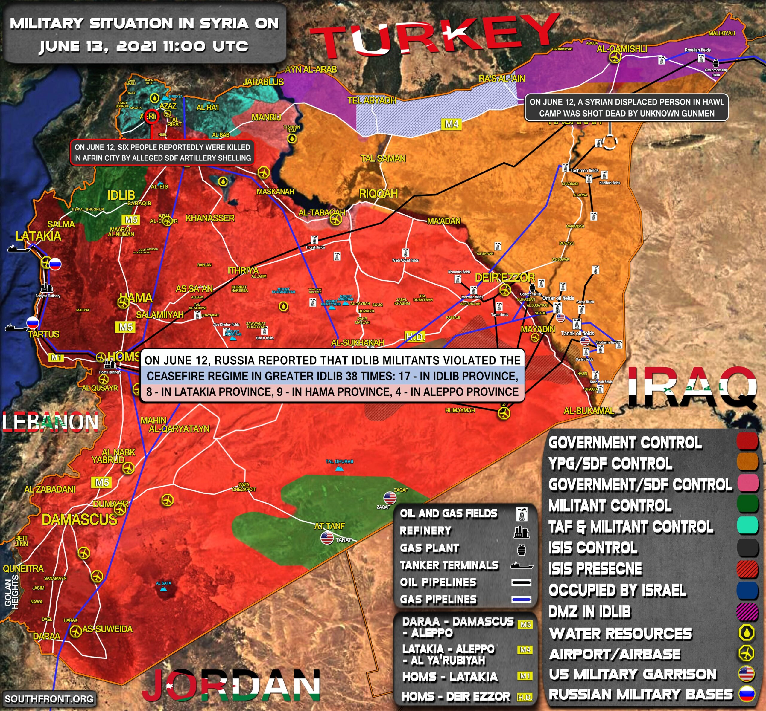 Military Situation In Syria On June 13, 2021 (Map Update)