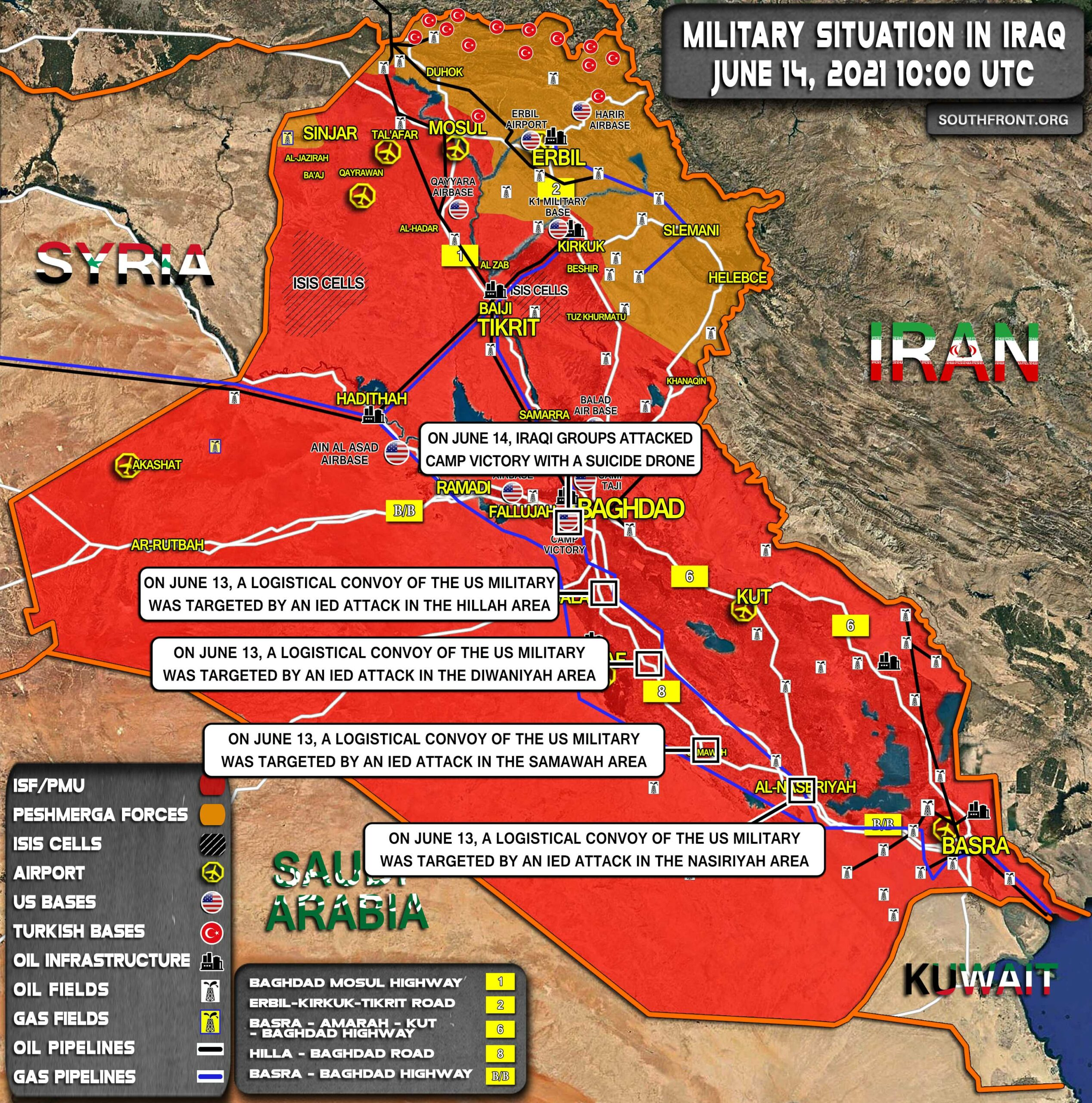 Military Situation In Iraq On June 14, 2021 (Map Update)