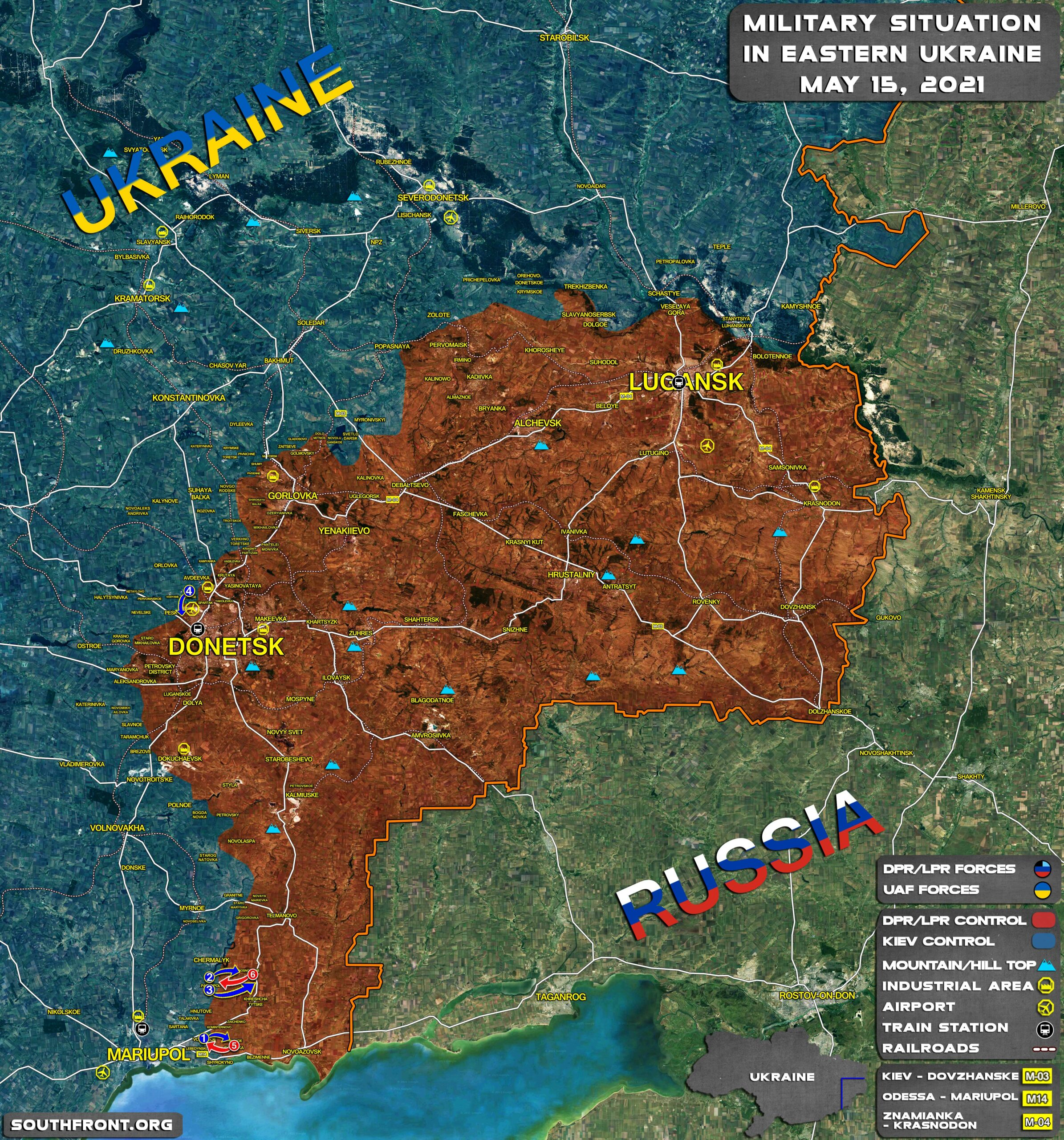 Military Situation In Donetsk People's Republic On June 15, 2021 (Map Update)