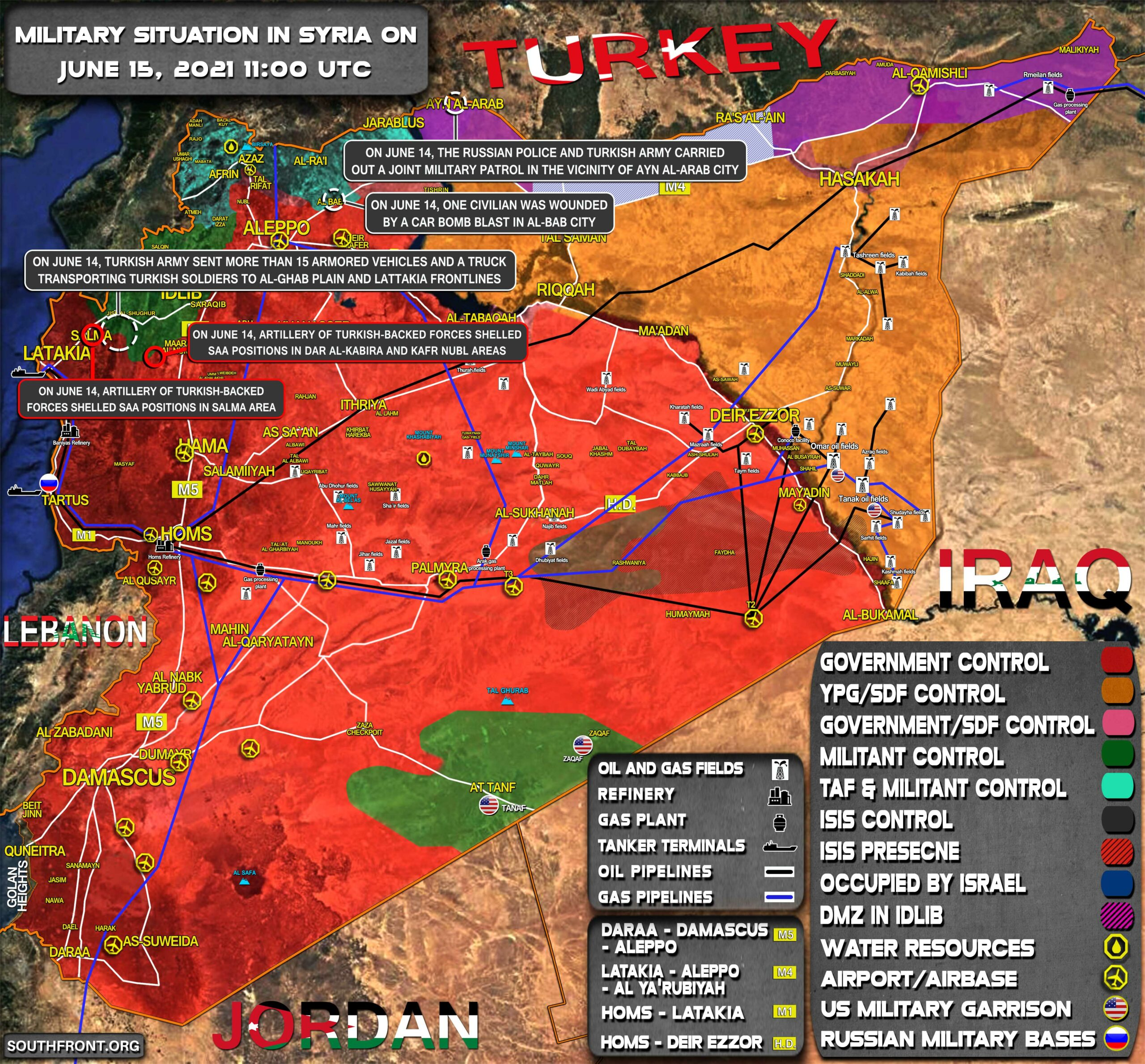 Military Situation In Syria On June 15, 2021 (Map Update)