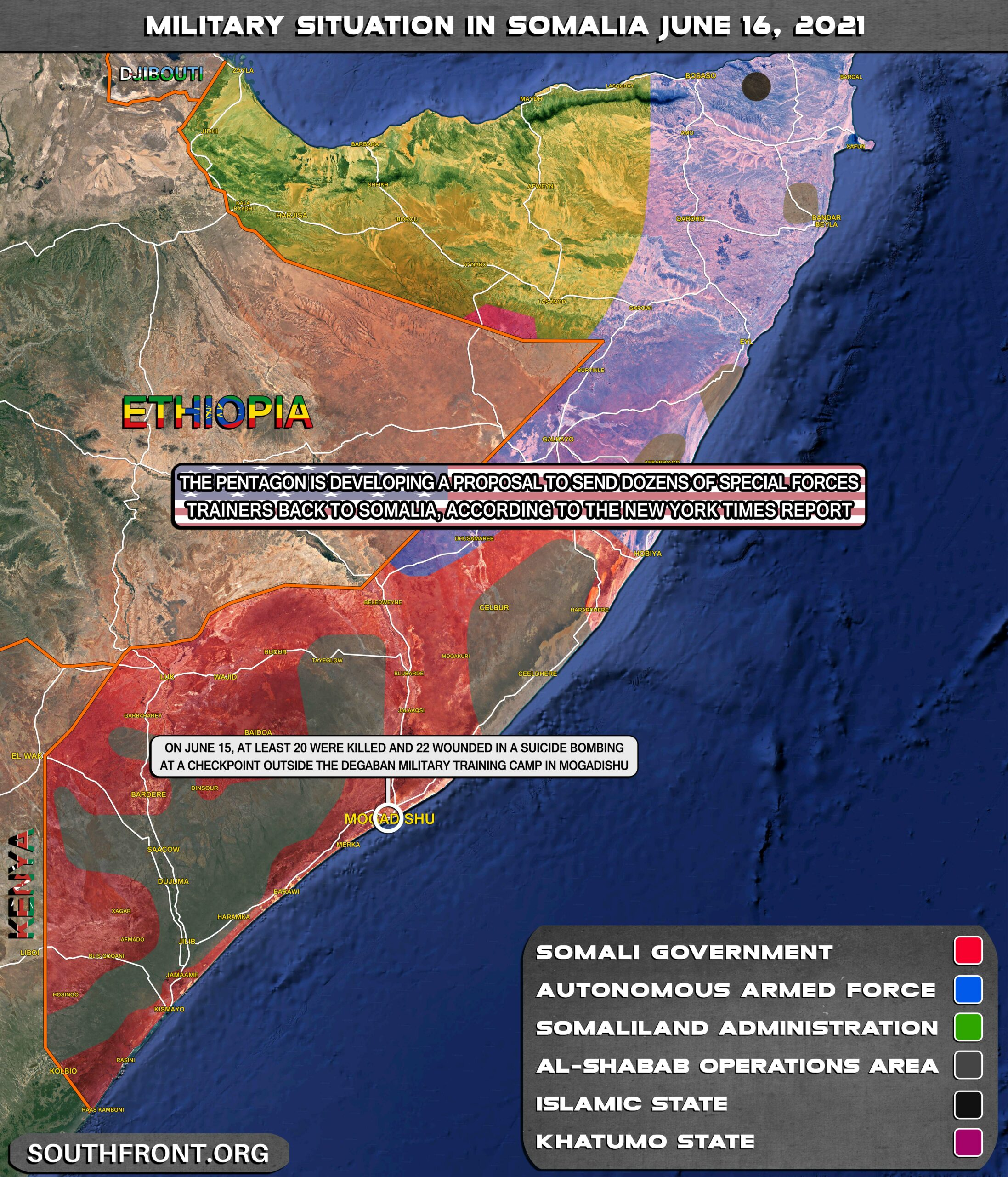 Military Situation In Somalia On June 16, 2021 (Map Update)