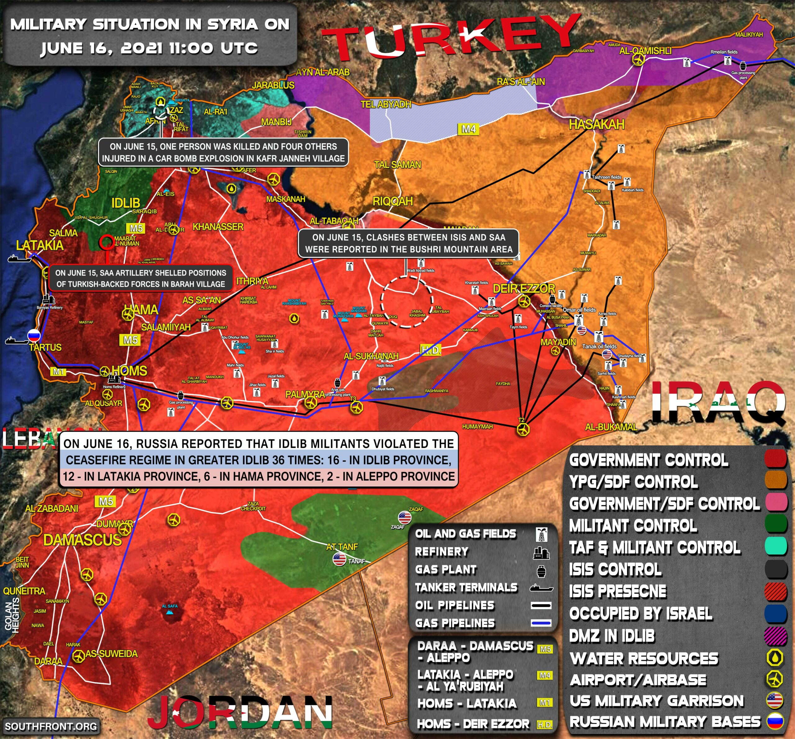 Military Situation In Syria On June 16, 2021 (Map Update)