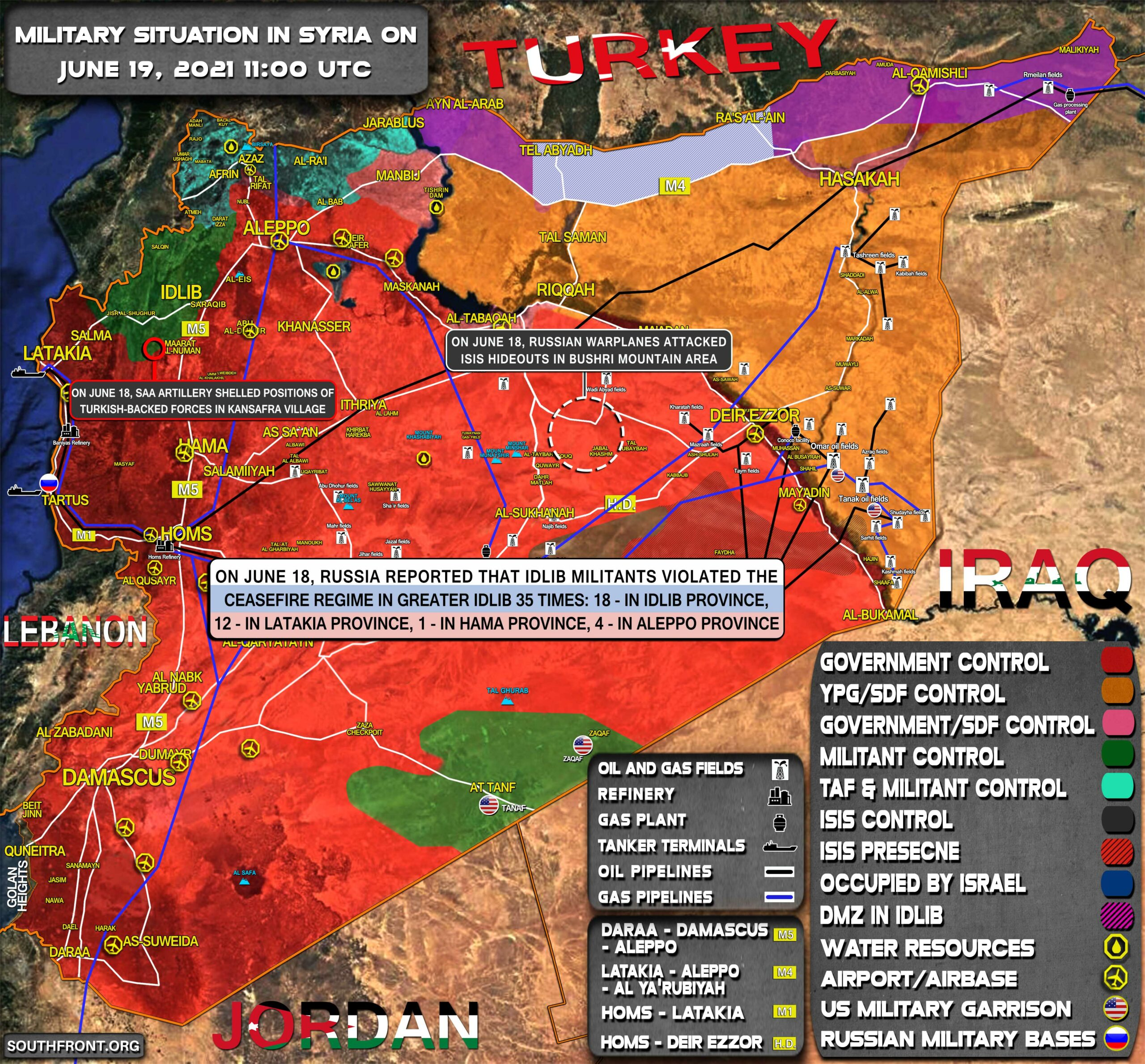 Military Situation In Syria On June 19, 2021 (Map Update)