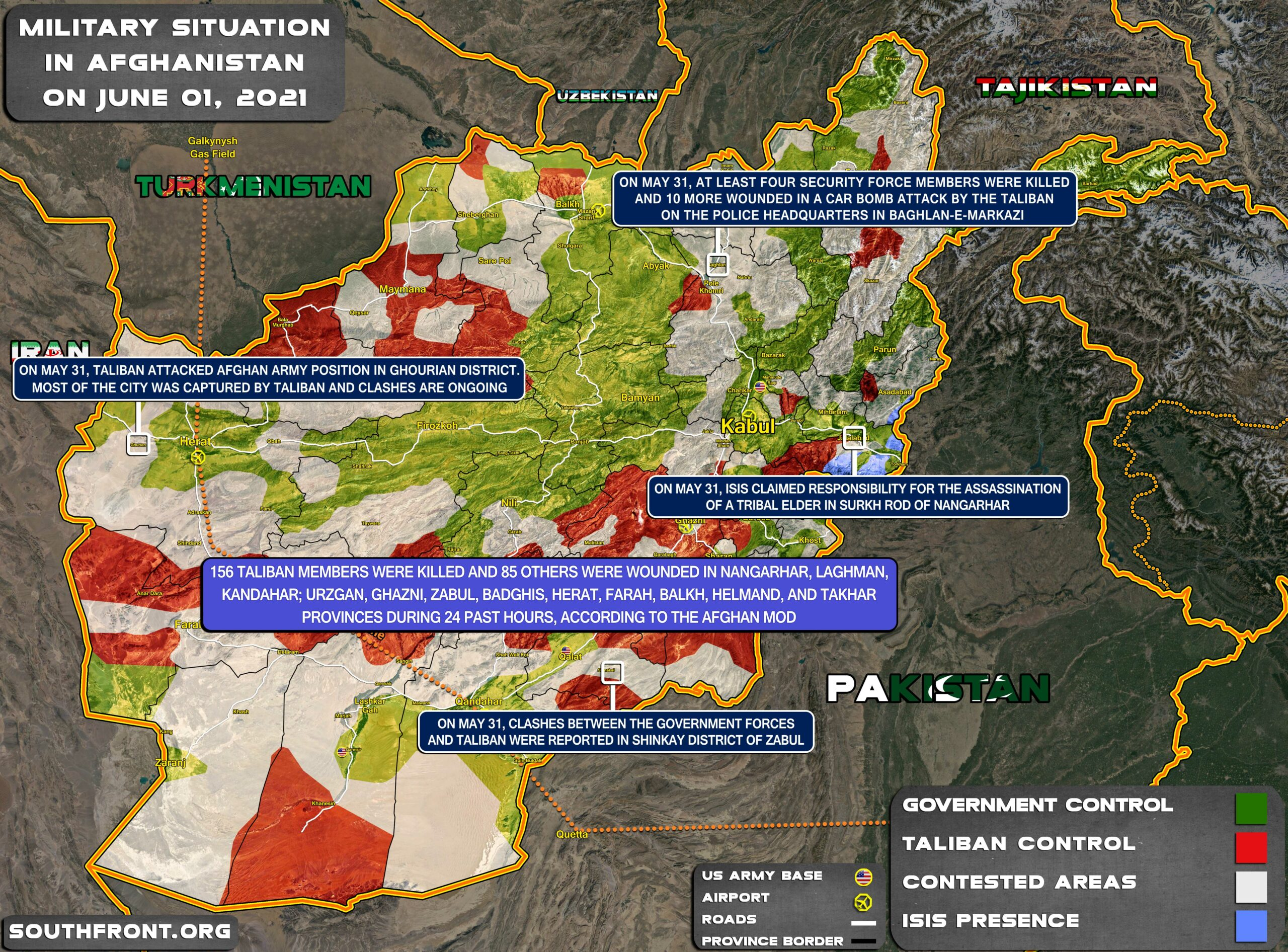 Military Situation In Afghanistan On June 1, 2021 (Map Update)