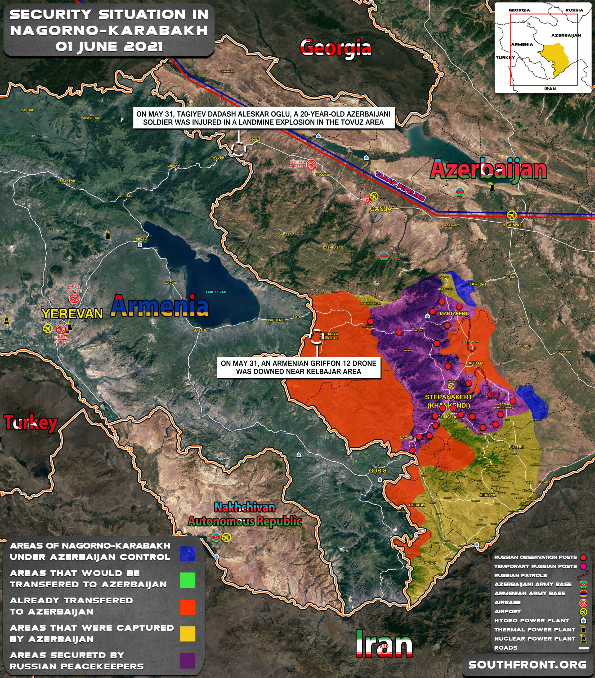 Military Situation In Nagorno-Karabakh On June 1, 2021 (Map Update)