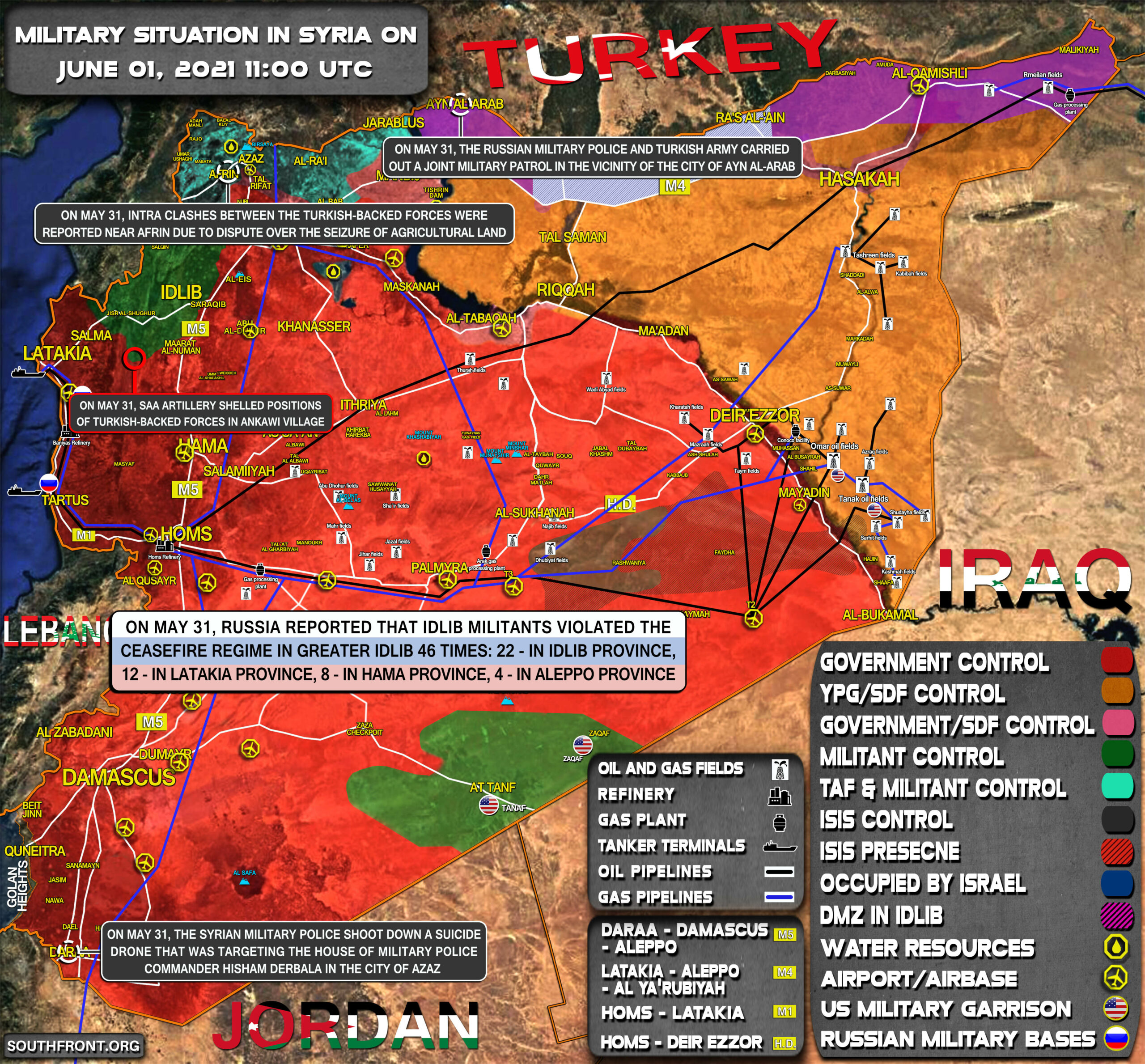 Military Situation In Syria On June 1, 2021 (Map Update)