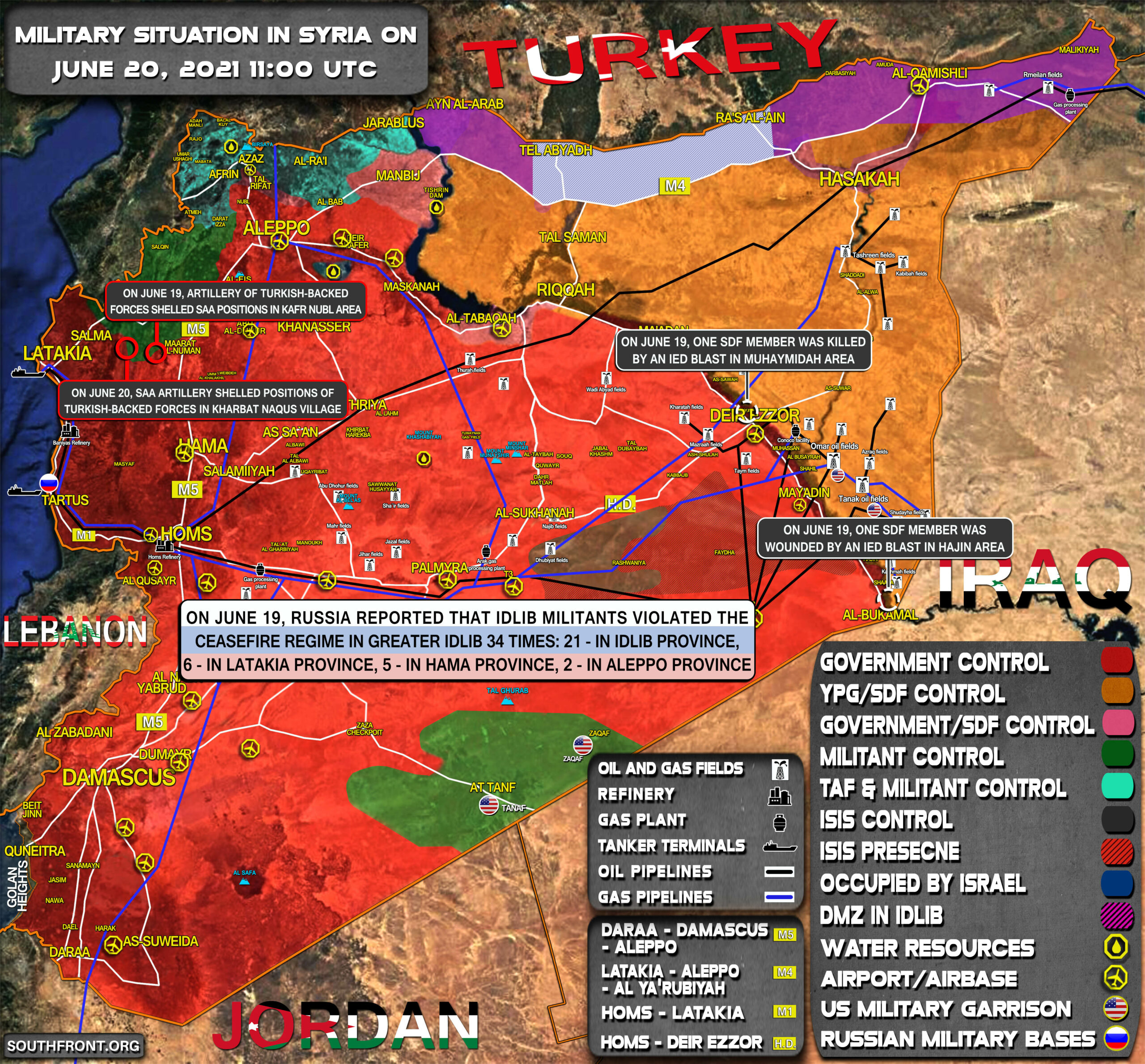 Military Situation In Syria On June 20, 2021 (Map Update)