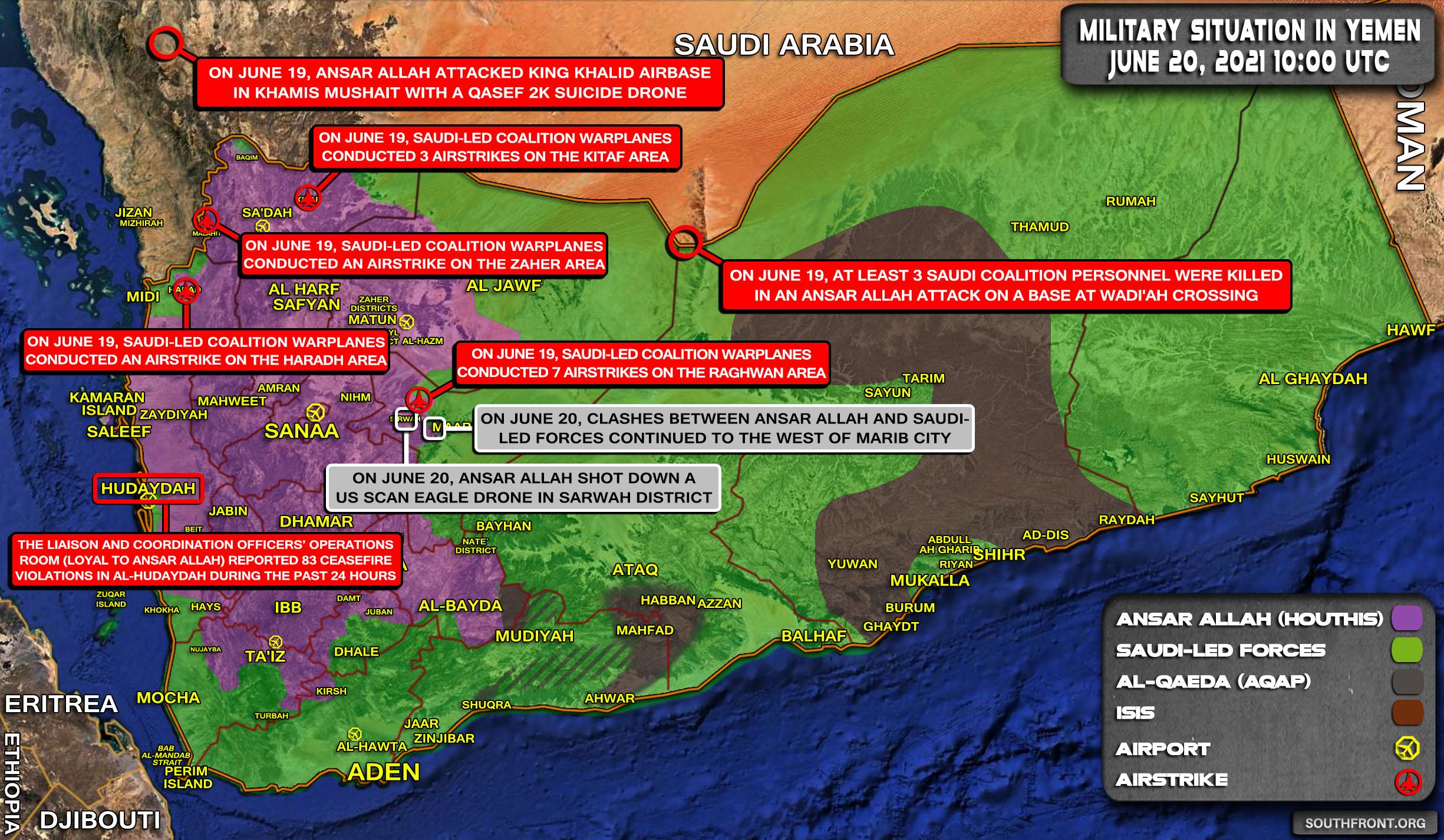Ansar Allah Kill Saudi-led Coalition Personnel During Attack On Border Crossing Base