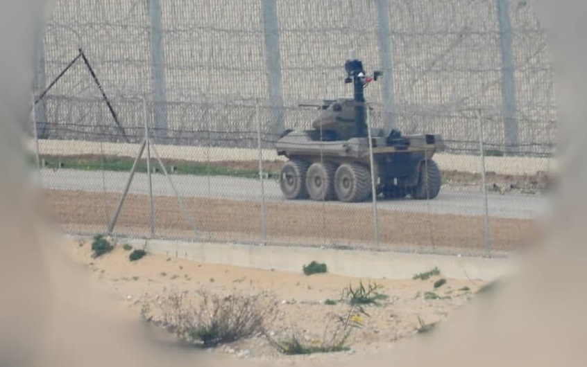 Israeli Unmanned Ground Vehicle Spotted On Separation Line In Gaza Strip (Photos)