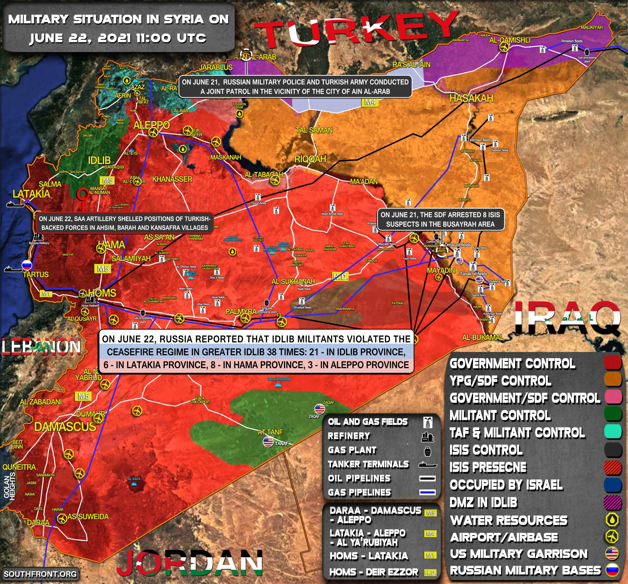 Military Situation In Syria On June 22, 2021 (Map Update)