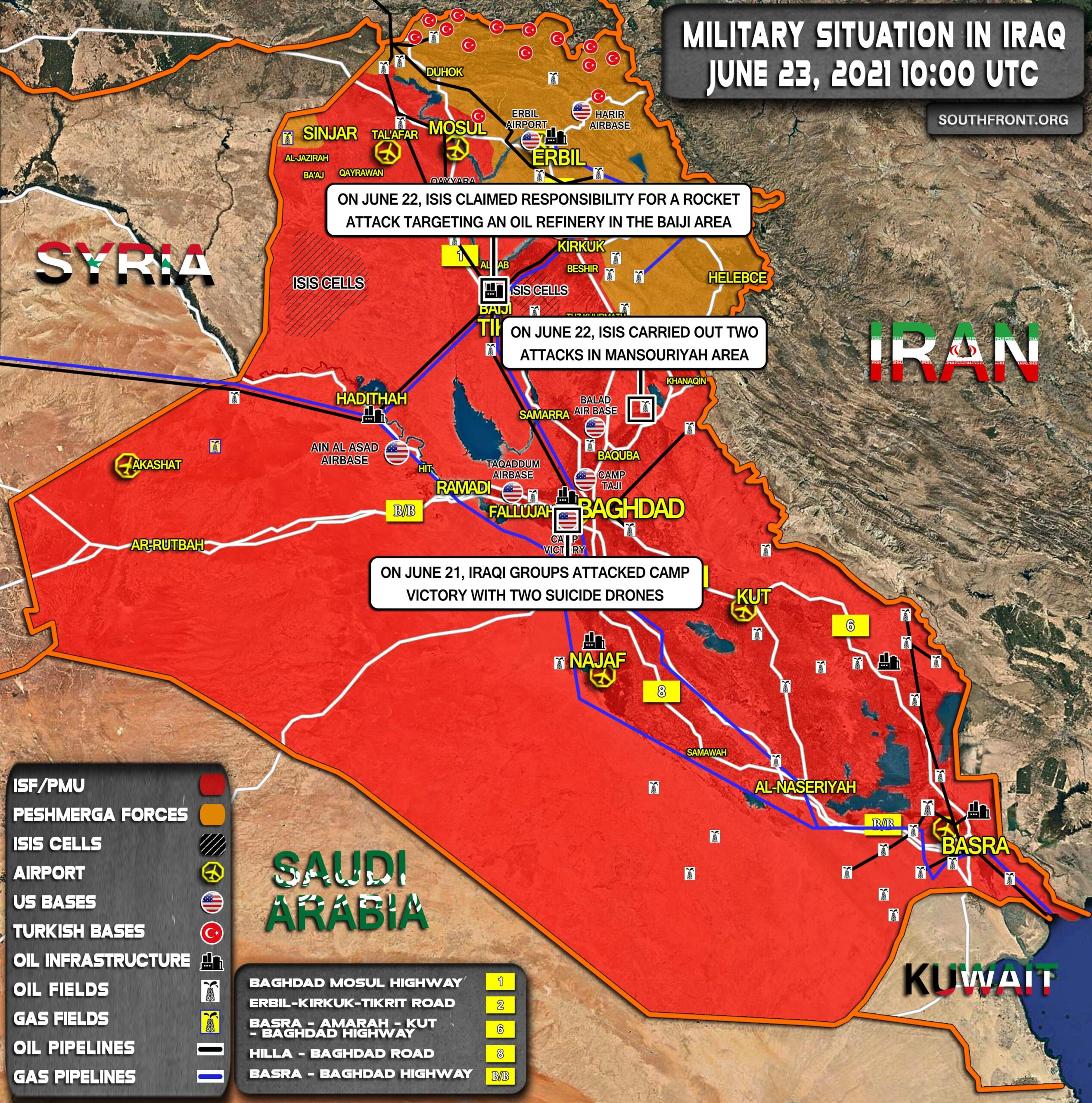 Military Situation In Iraq On June 23, 2021 (Map Update)