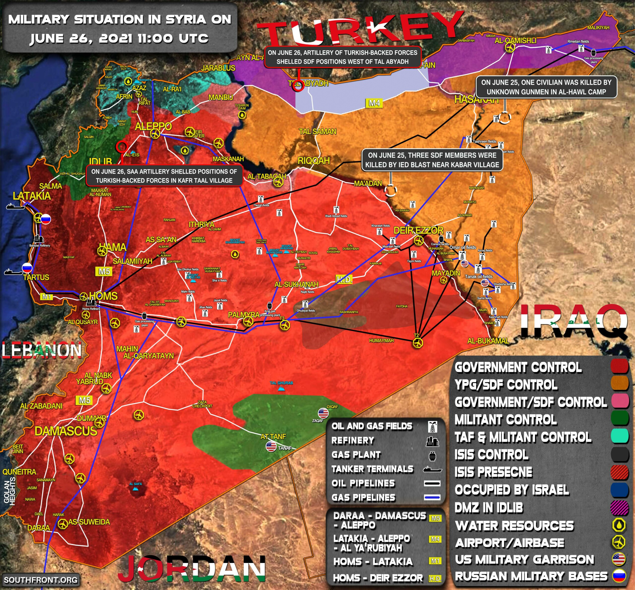 Military Situation In Syria On June 26, 2021 (Map Update)