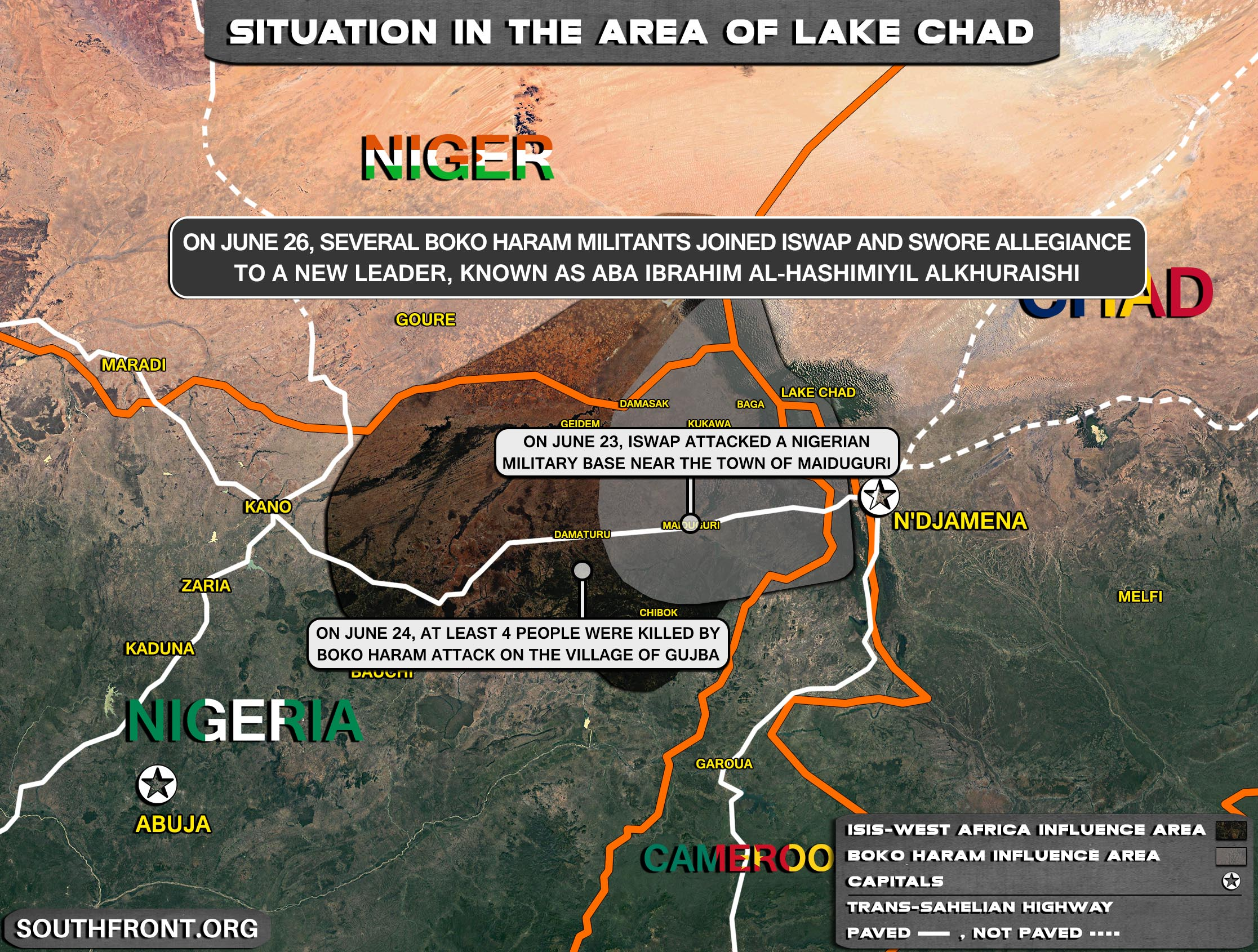 Military Situation In The Lake Chad Area On June 27, 2021 (Map Update)