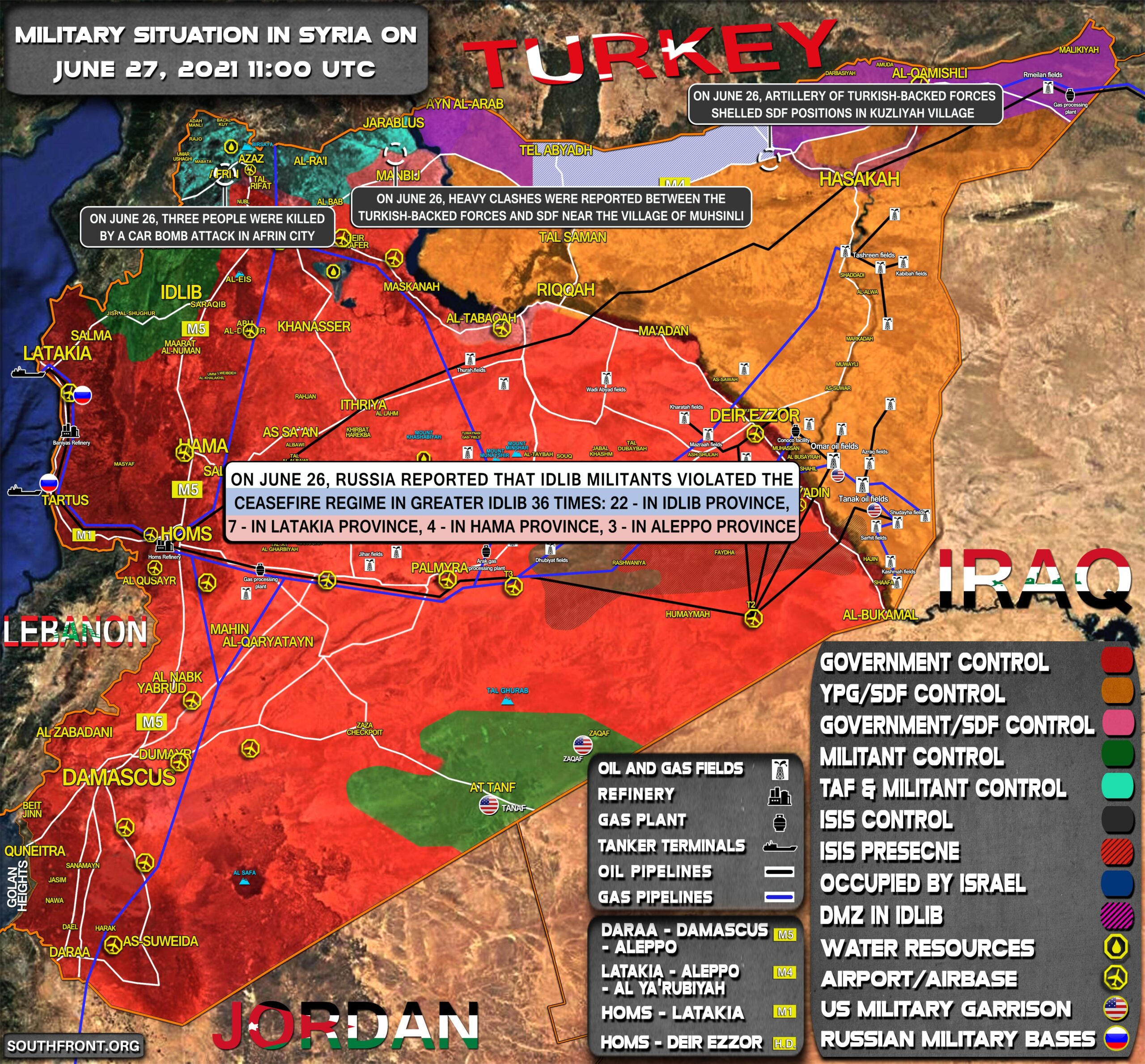 Military Situation In Syria On June 27, 2021 (Map Update)