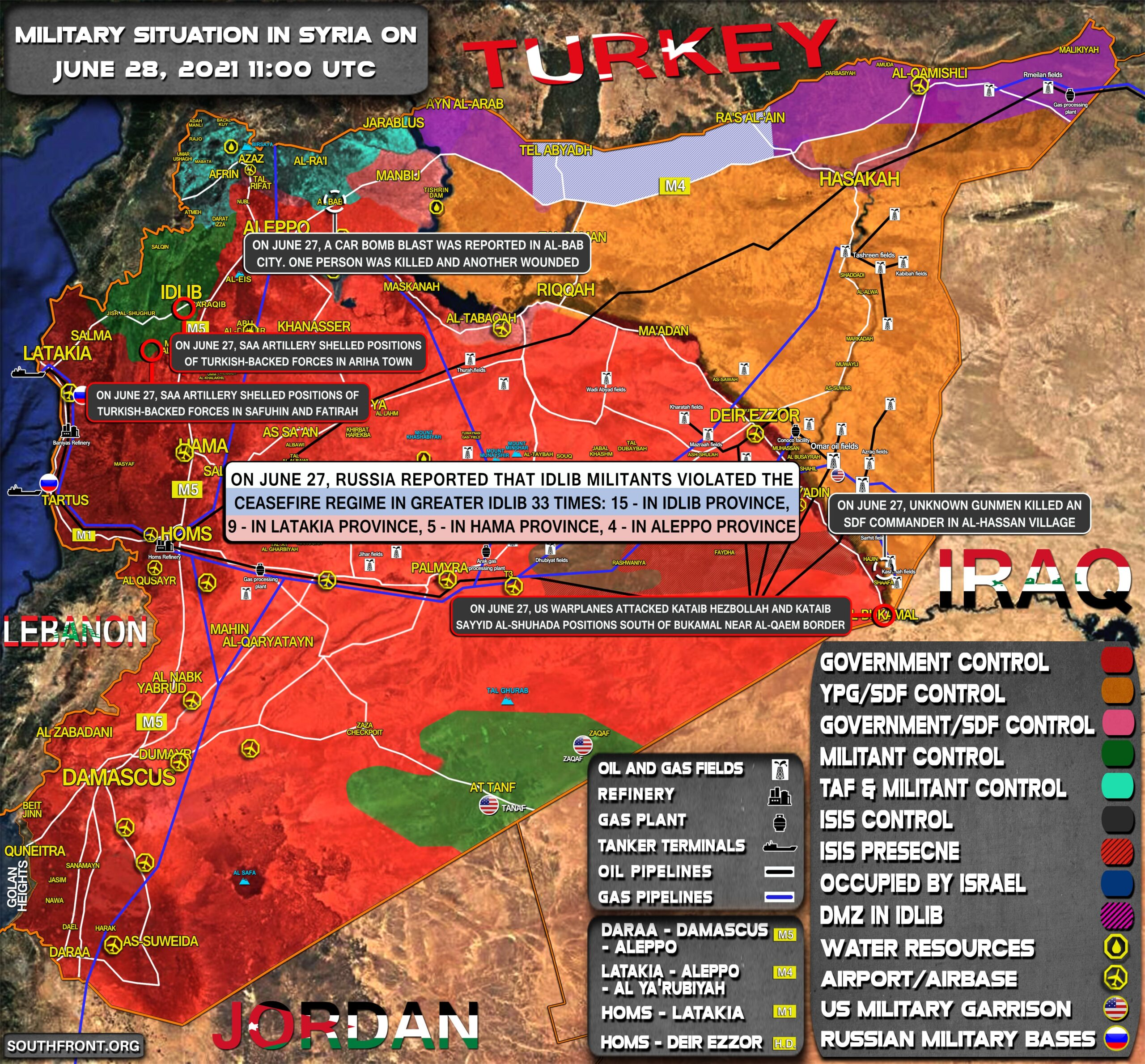 Military Situation In Syria On June 28, 2021 (Map Update)