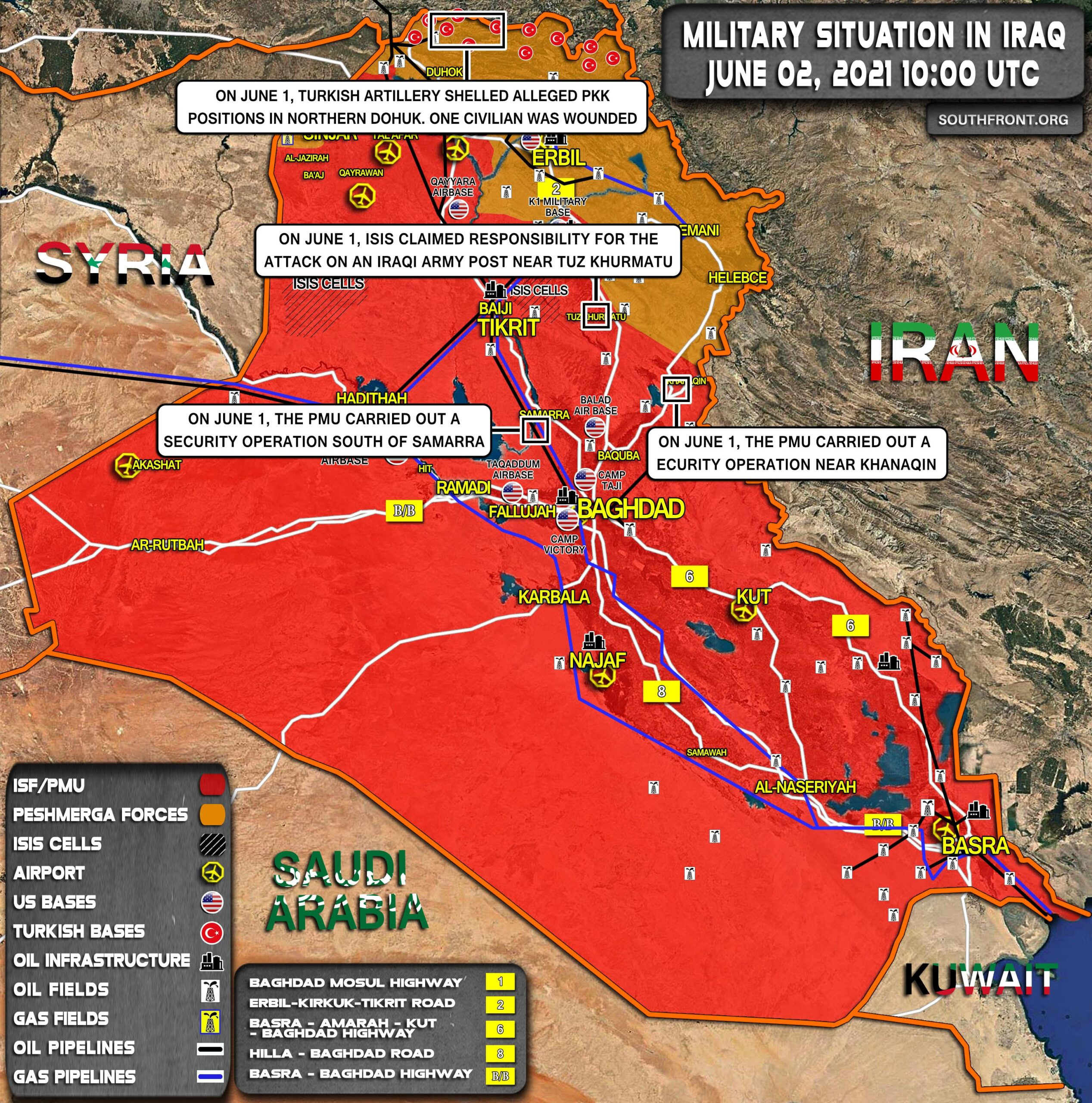 Military Situation In Iraq On June 2, 2021 (Map Update)