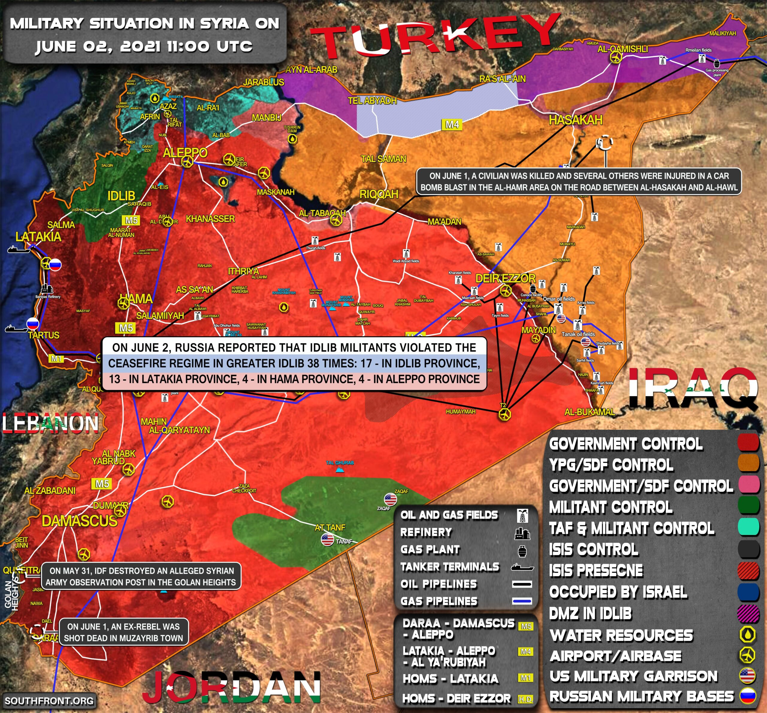 Military Situation In Syria On June 2, 2021 (Map Update)