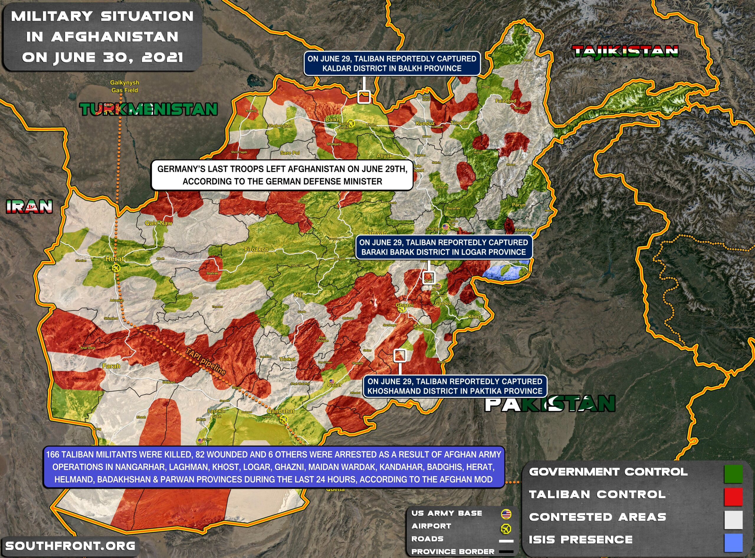 Military Situation In Afghanistan On June 30, 2021 (Map Update)