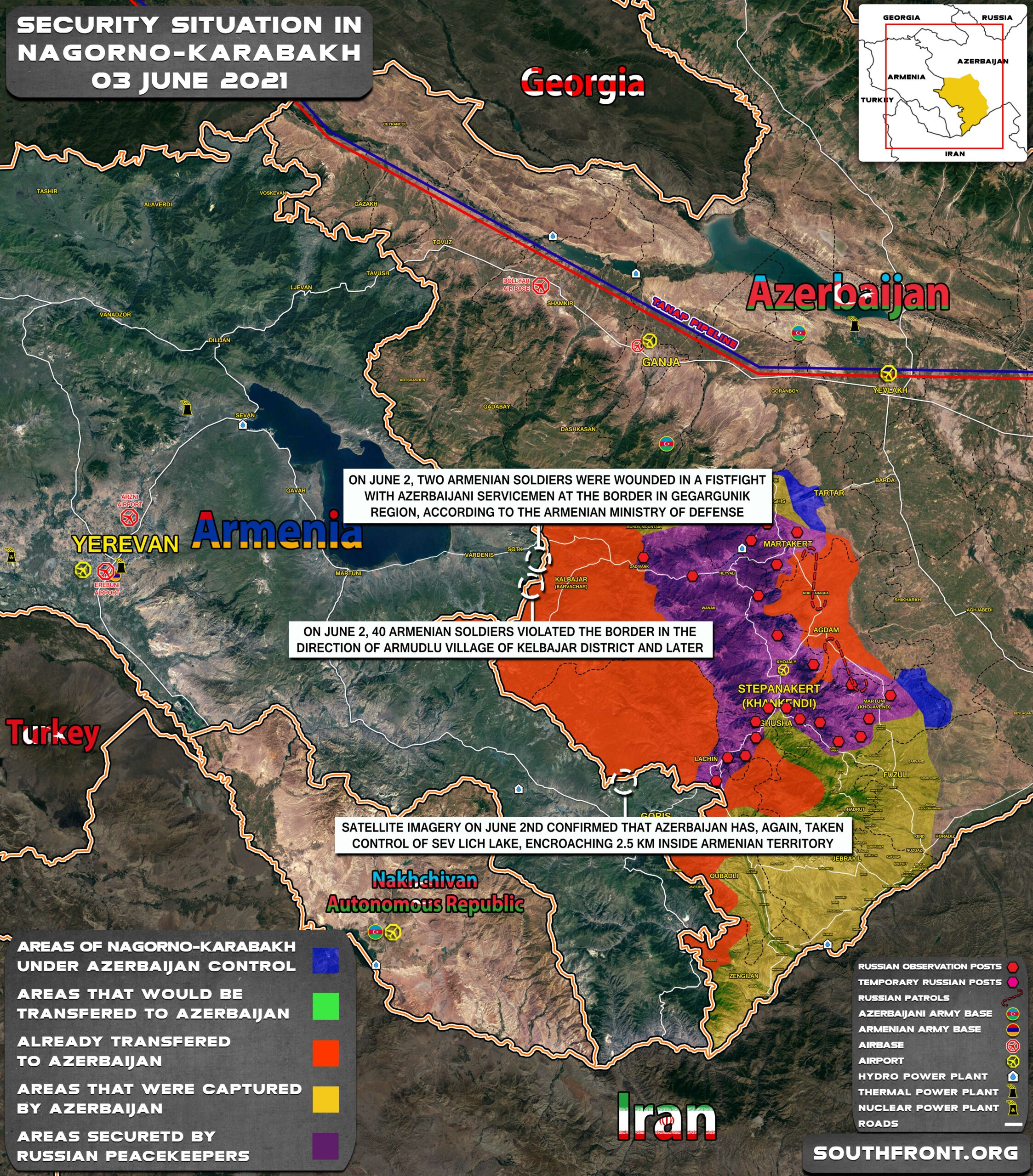 Military Situation In Nagorno-Karabakh On June 3, 2021 (Map Update)