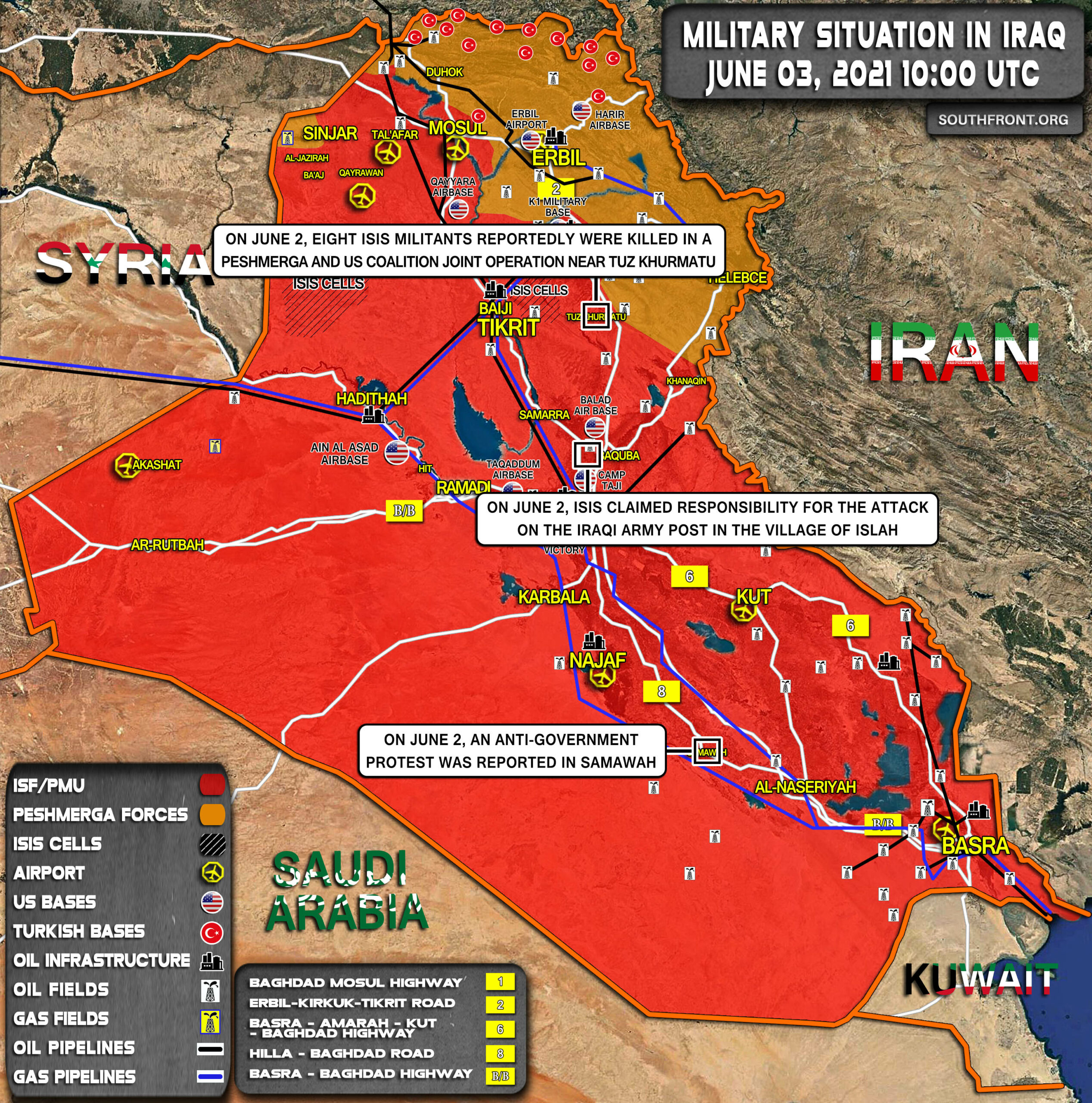 Military Situation In Iraq On June 3, 2021 (Map Update)