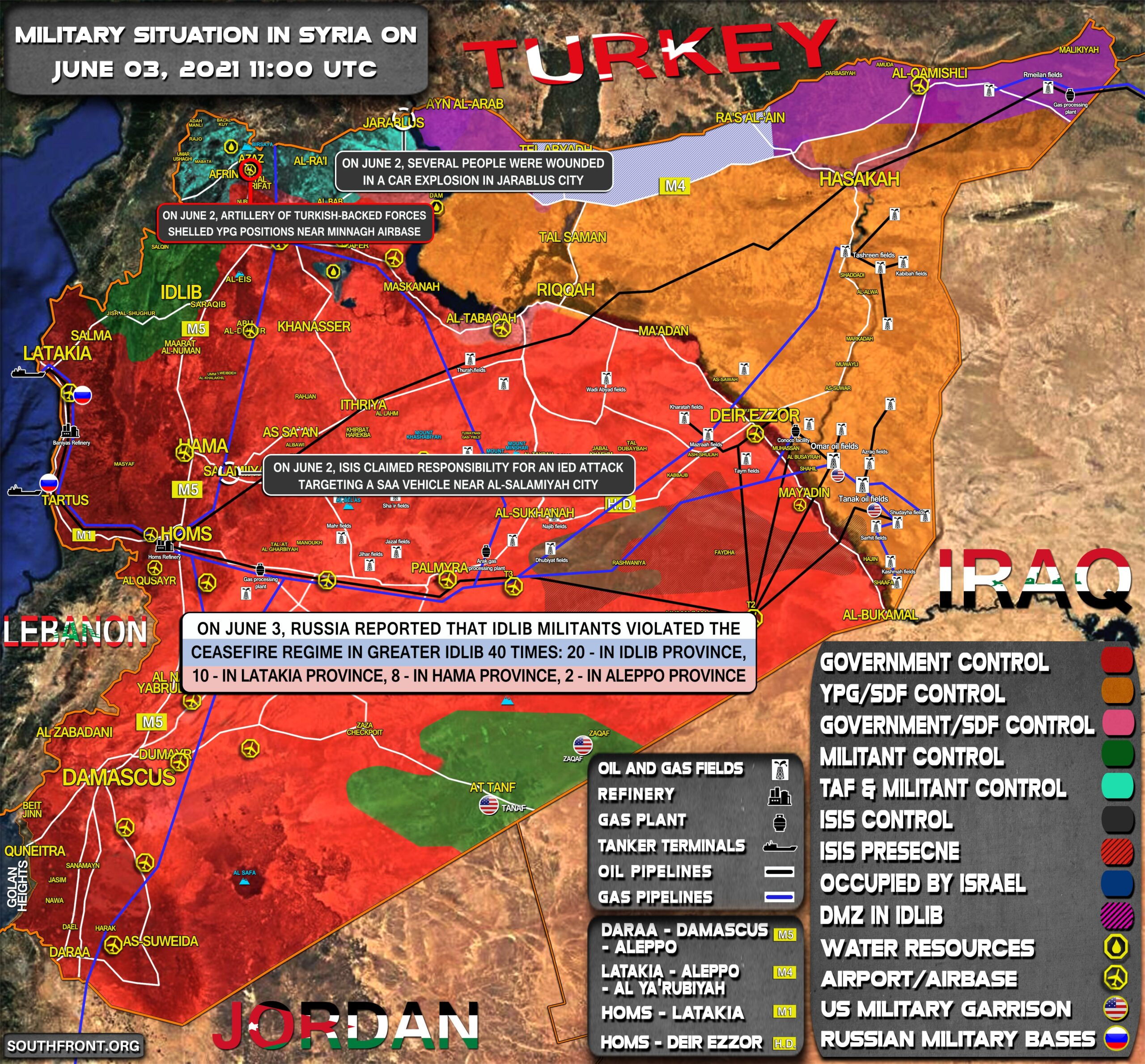 Military Situation In Syria On June 3, 2021 (Map Update)